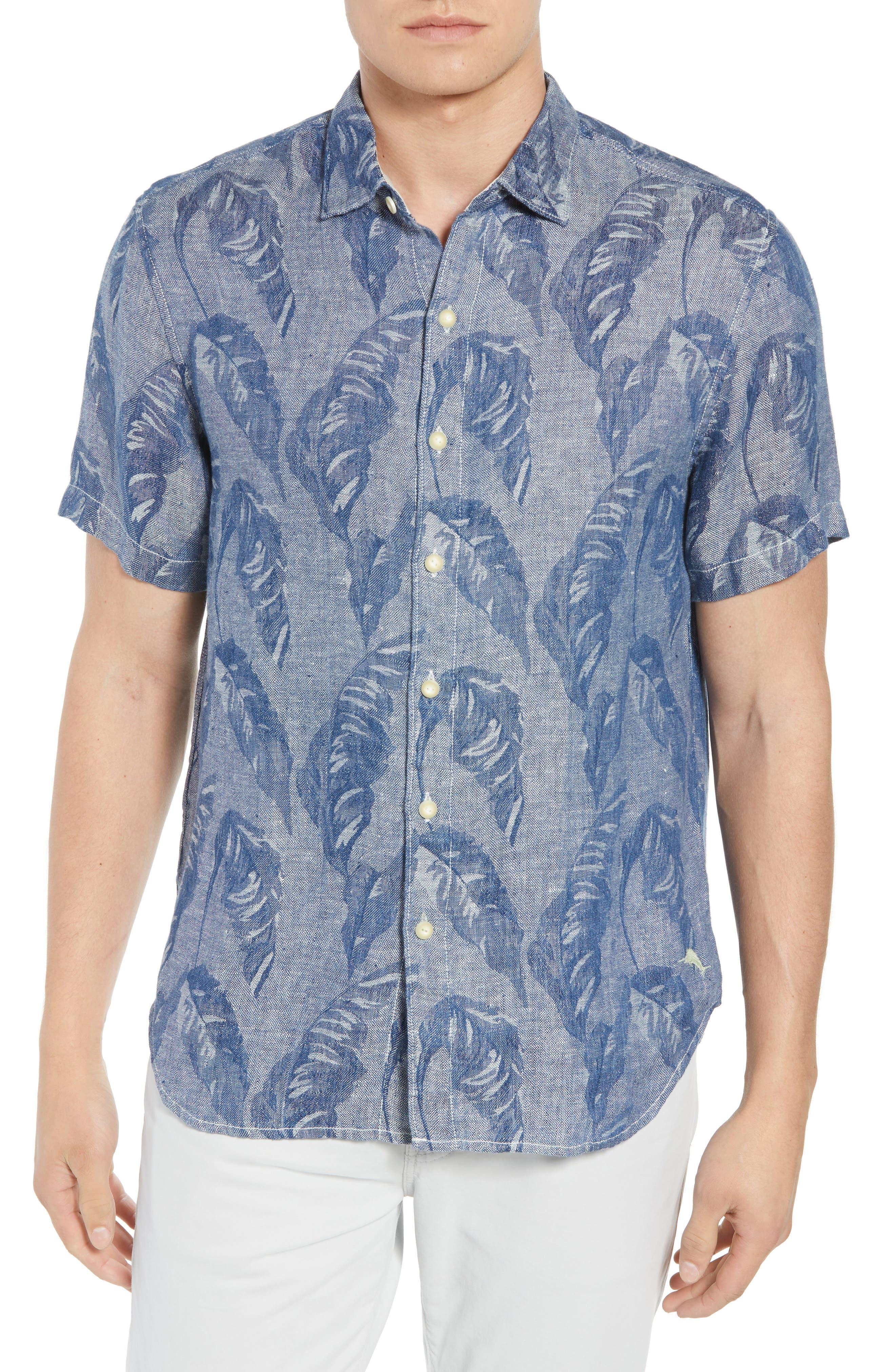 Help Me Fronda Linen Camp Shirt,                         Main,                         color, 401