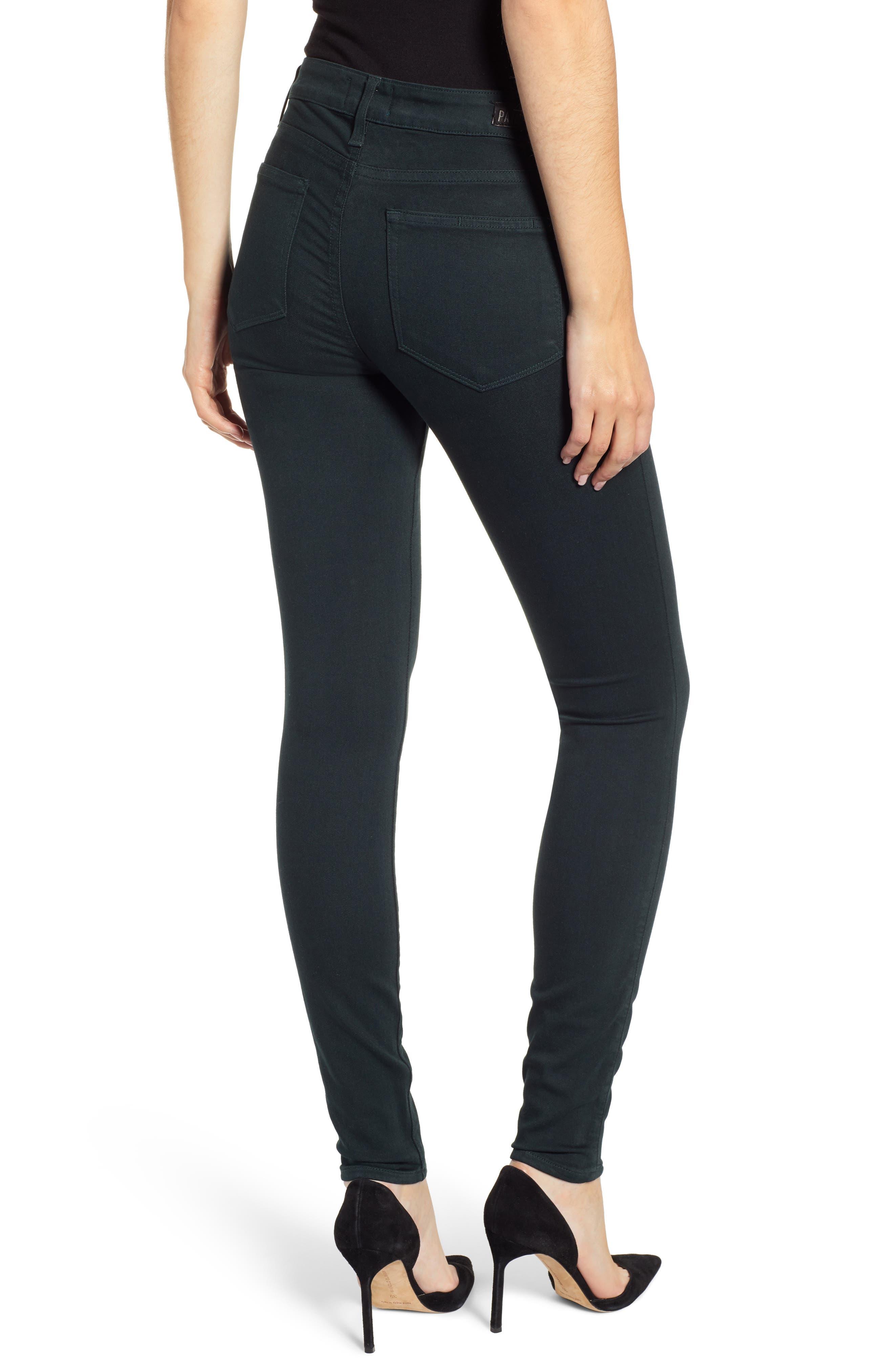Transcend - Verdugo Ultra Skinny Jeans,                             Alternate thumbnail 2, color,                             MIDNIGHT GREEN