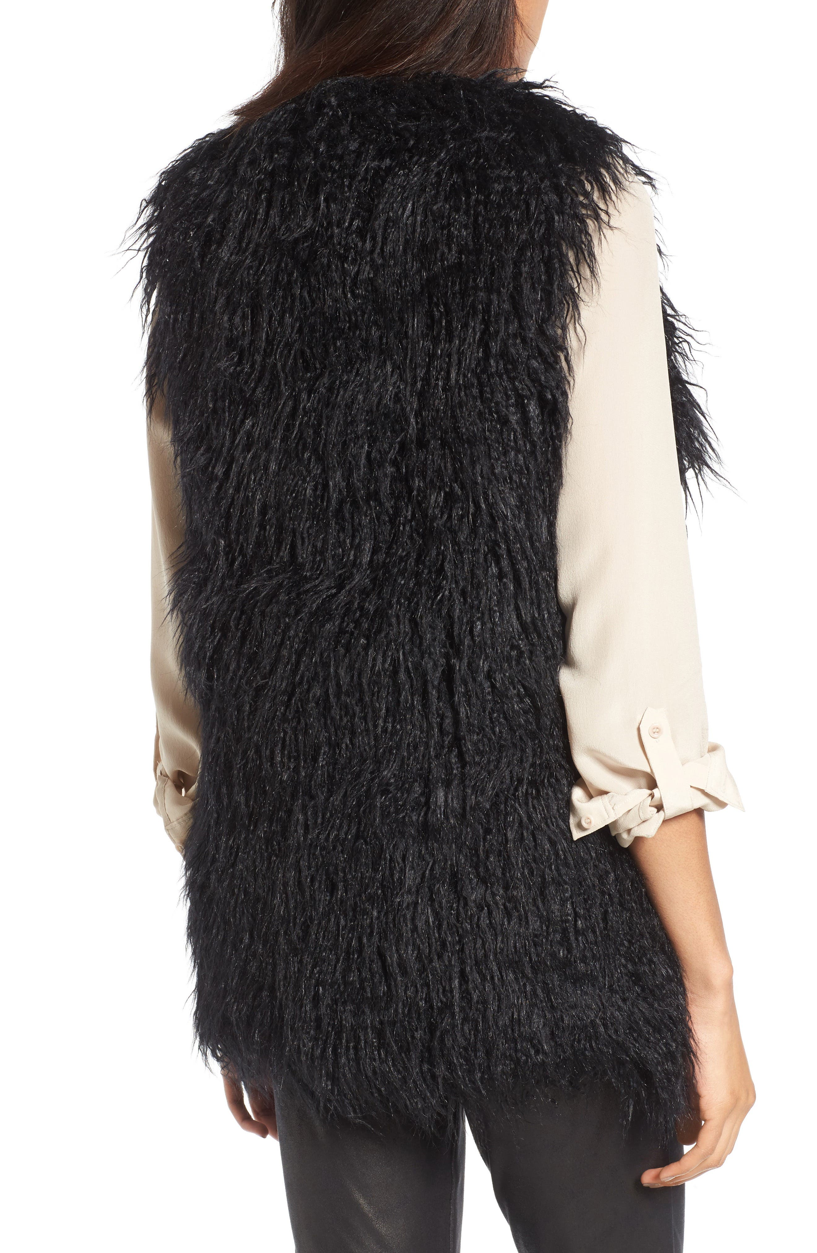 Faux Fur Vest,                             Alternate thumbnail 2, color,                             001