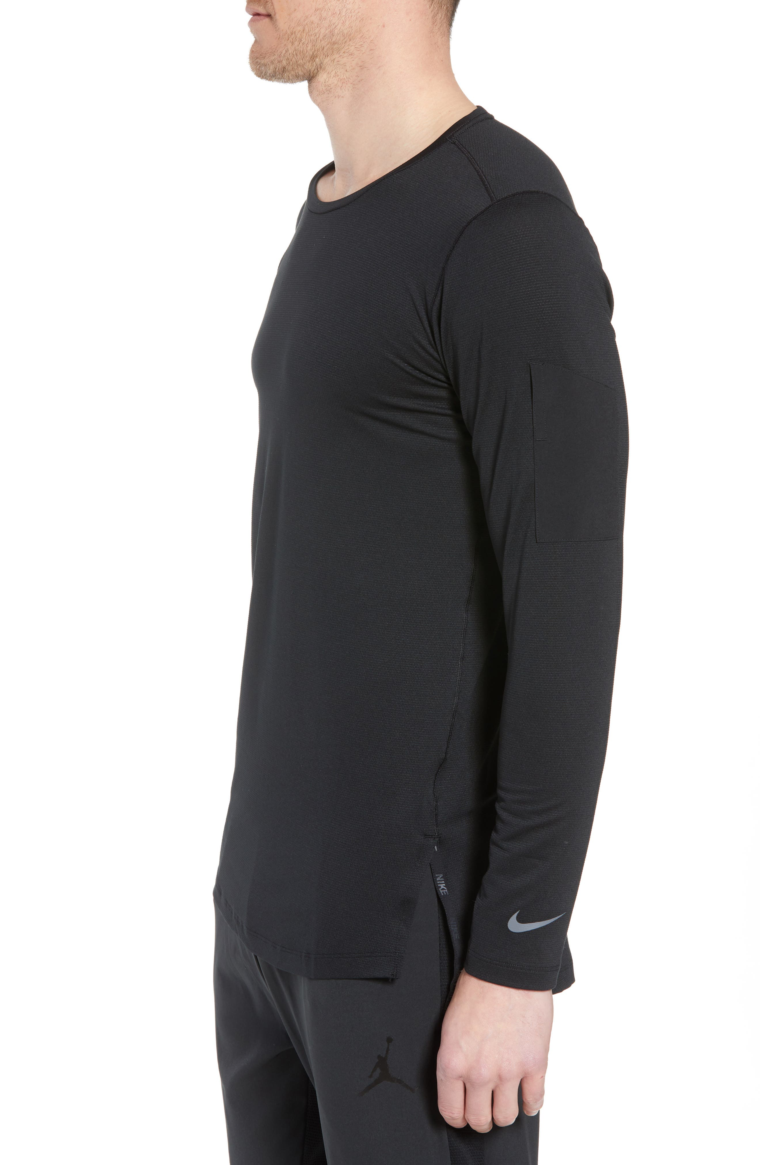 Pro Utility Fitted Training Top,                             Alternate thumbnail 3, color,                             BLACK/ BLACK