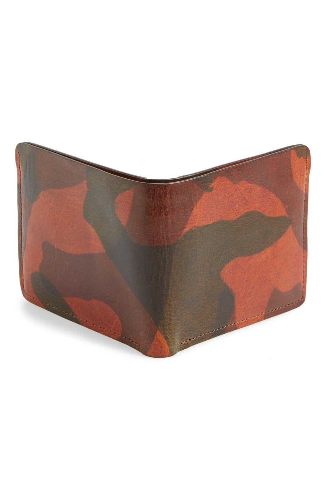 'Jackson' Bison Leather Wallet,                             Alternate thumbnail 6, color,
