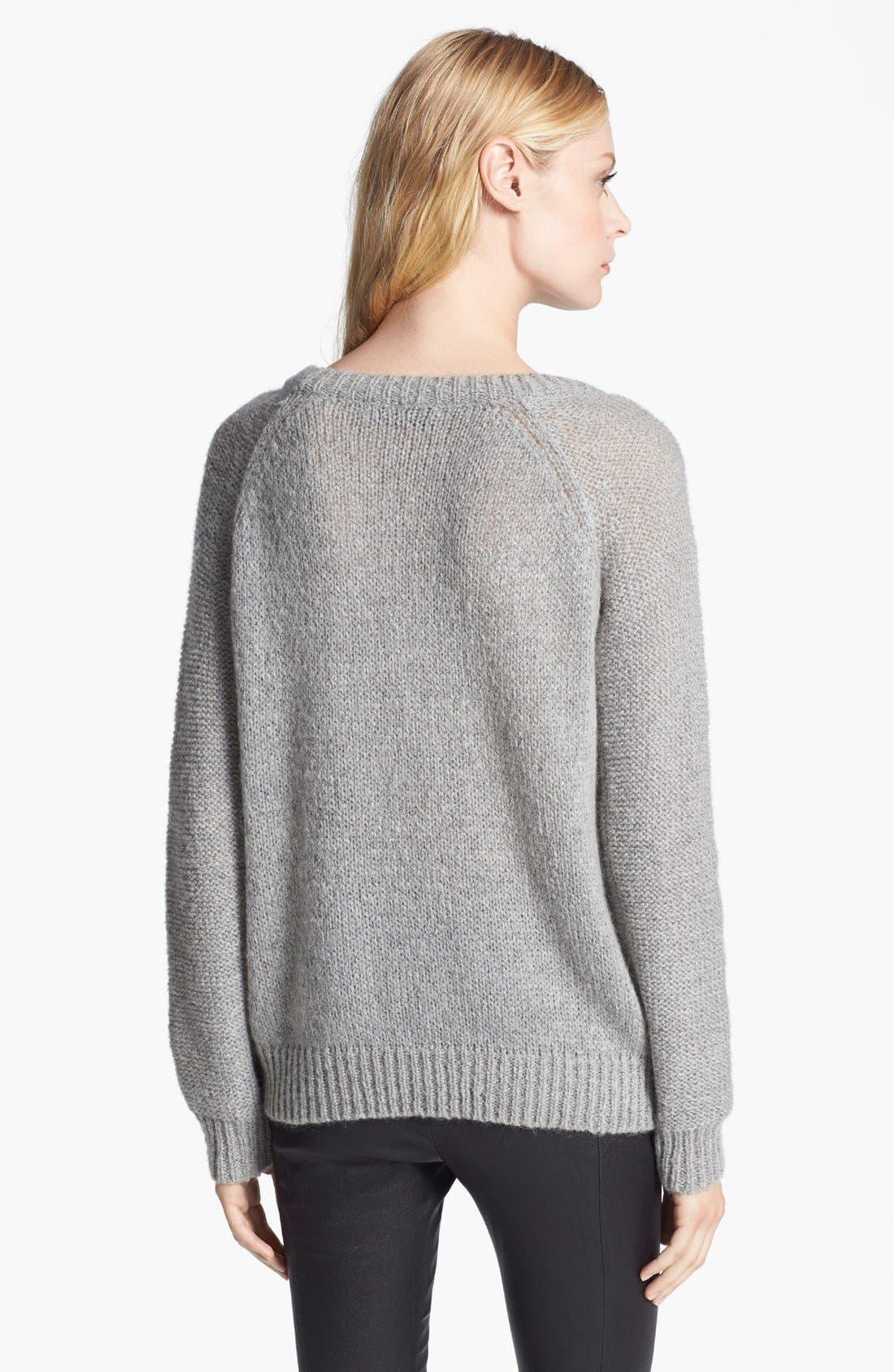 'Raincloud' Intarsia Knit Sweater,                             Alternate thumbnail 3, color,