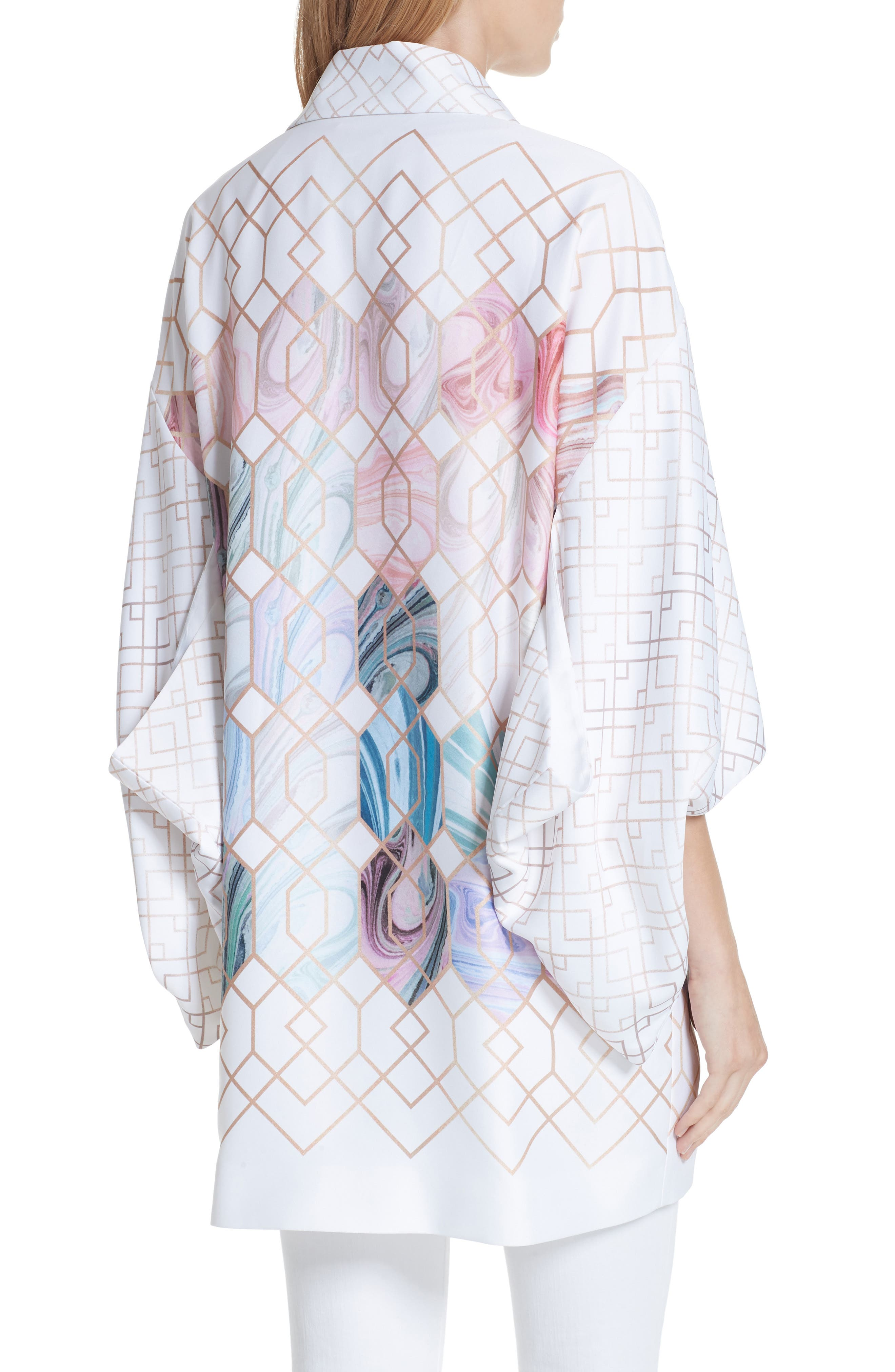 Koralle Sea of Clouds Kimono,                             Alternate thumbnail 2, color,