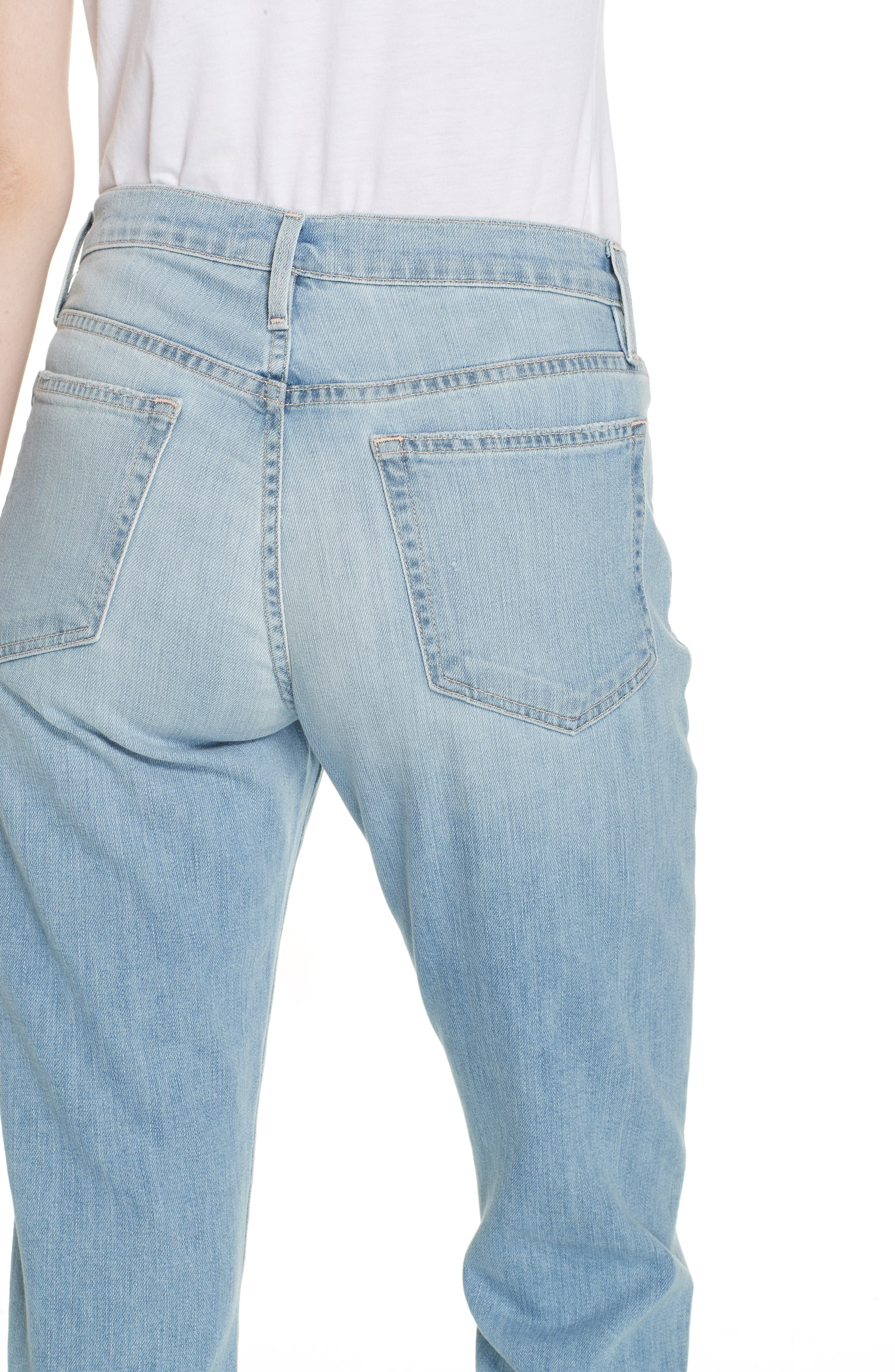 Le Boy High Waist Jeans,                             Alternate thumbnail 5, color,                             KEATON