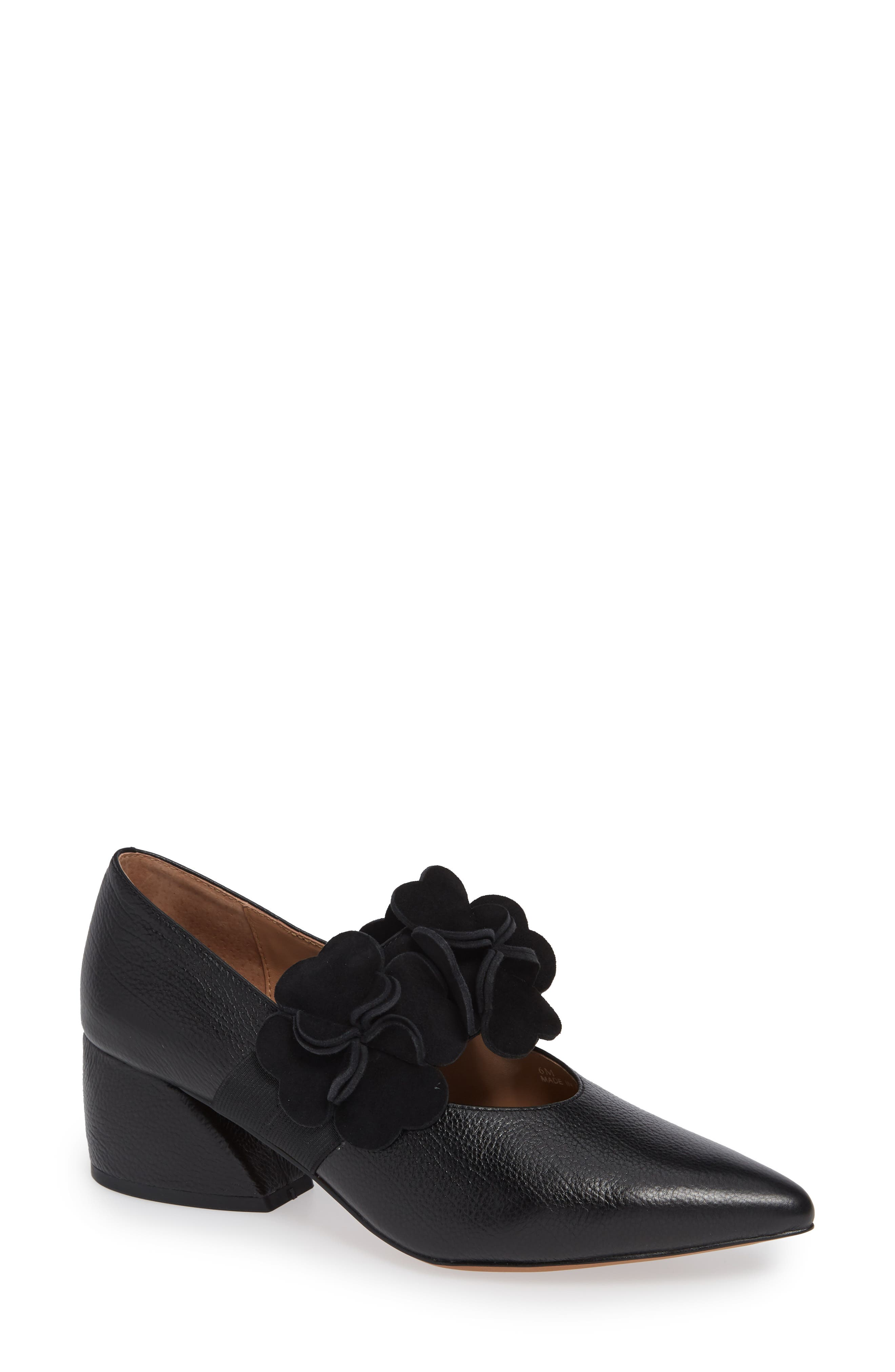 Biarritz Mary Jane Pump, Main, color, BLACK LEATHER