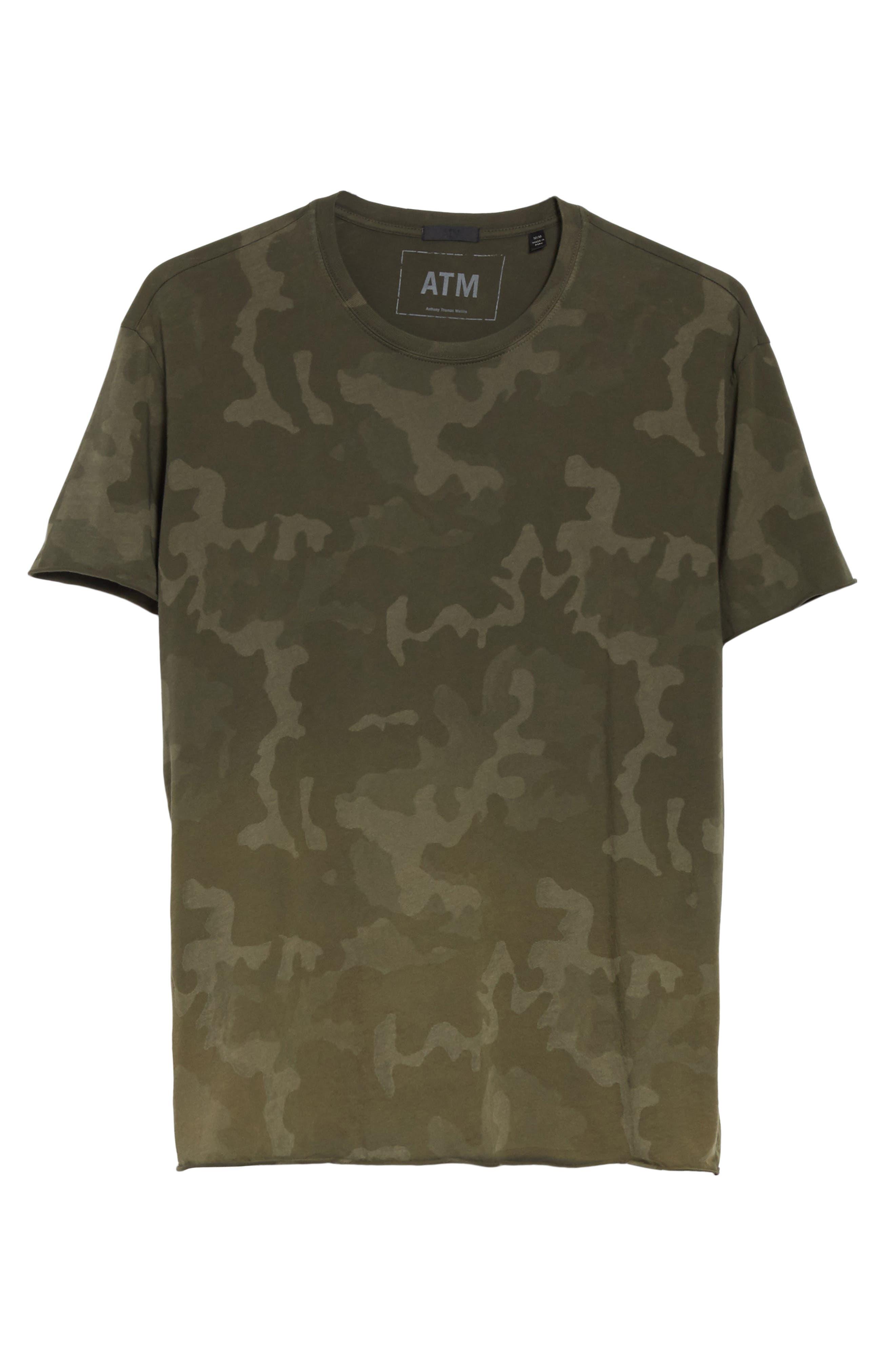 Camo Print Crewneck T-Shirt,                             Alternate thumbnail 6, color,                             341