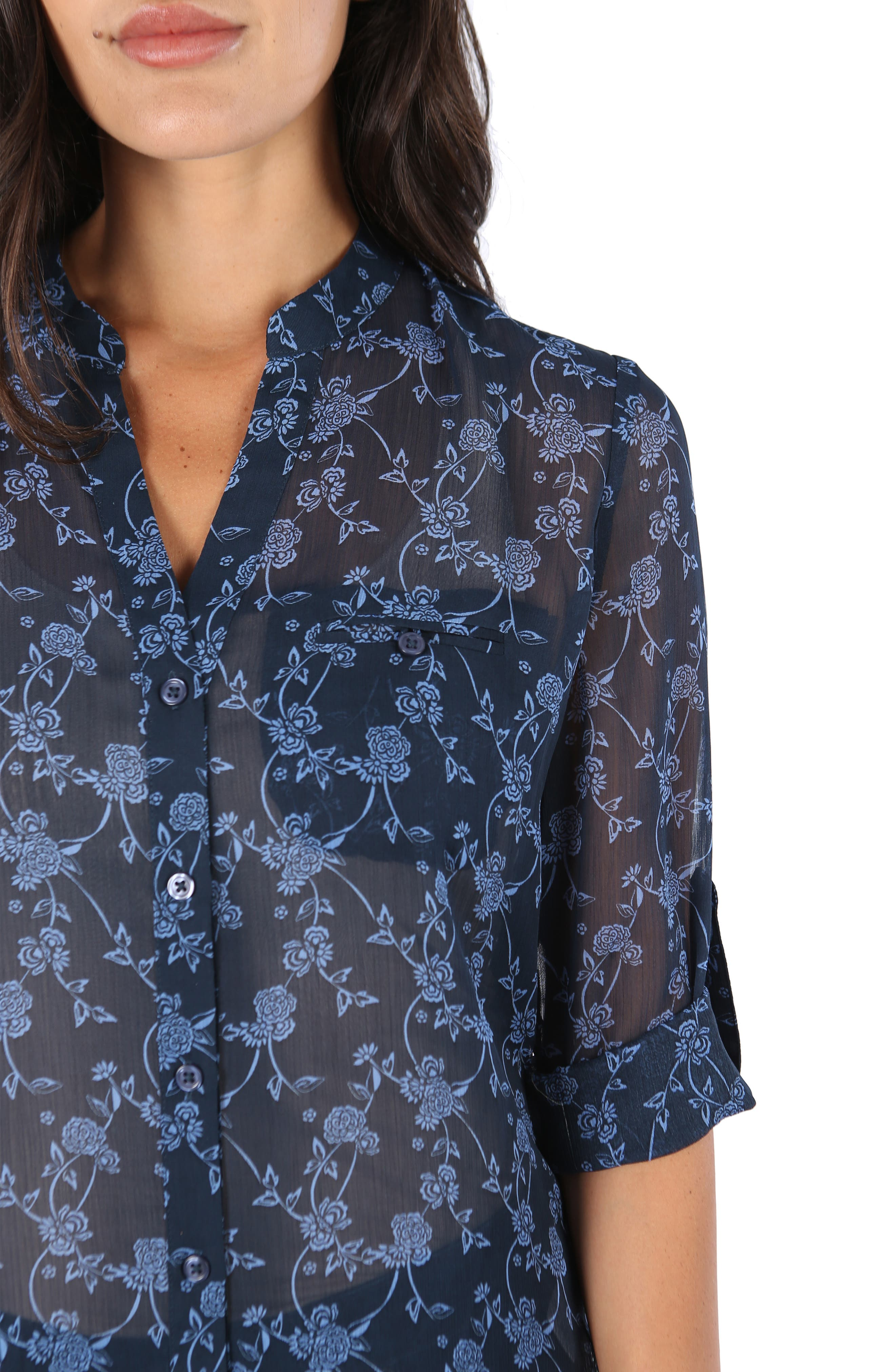 KUT from the the Kloth Jasmine Floral Blouse,                             Alternate thumbnail 4, color,                             416