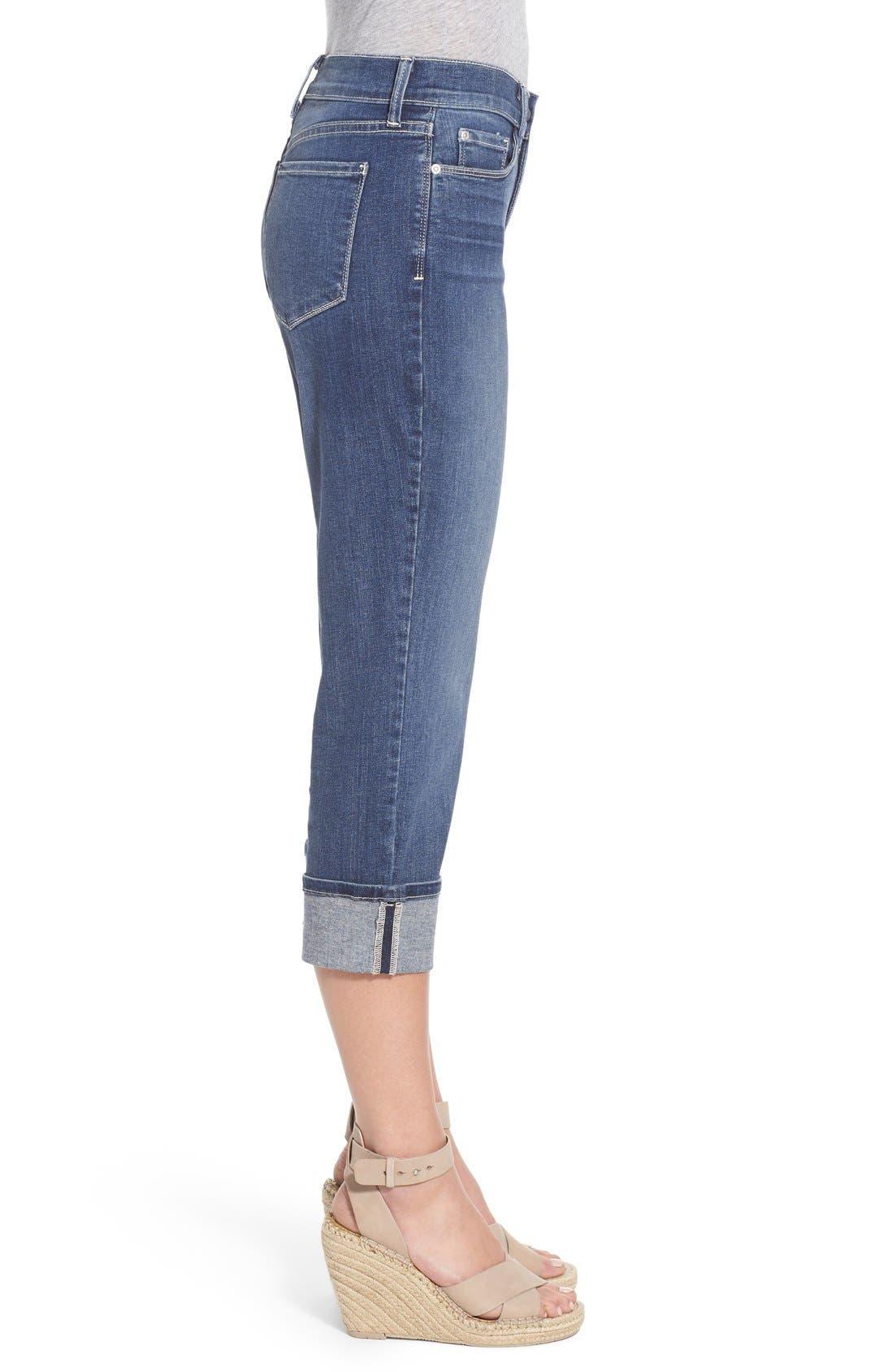 'Dayla' Colored Wide Cuff Capri Jeans,                             Alternate thumbnail 36, color,
