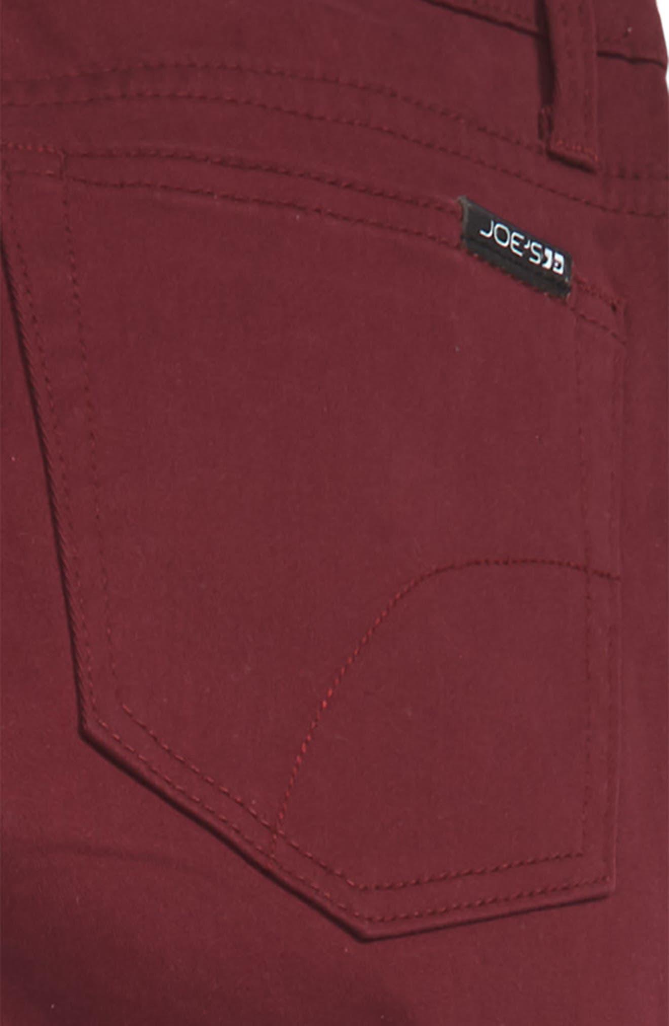 Brixton Straight Leg Stretch Twill Pants,                             Alternate thumbnail 3, color,                             WINE
