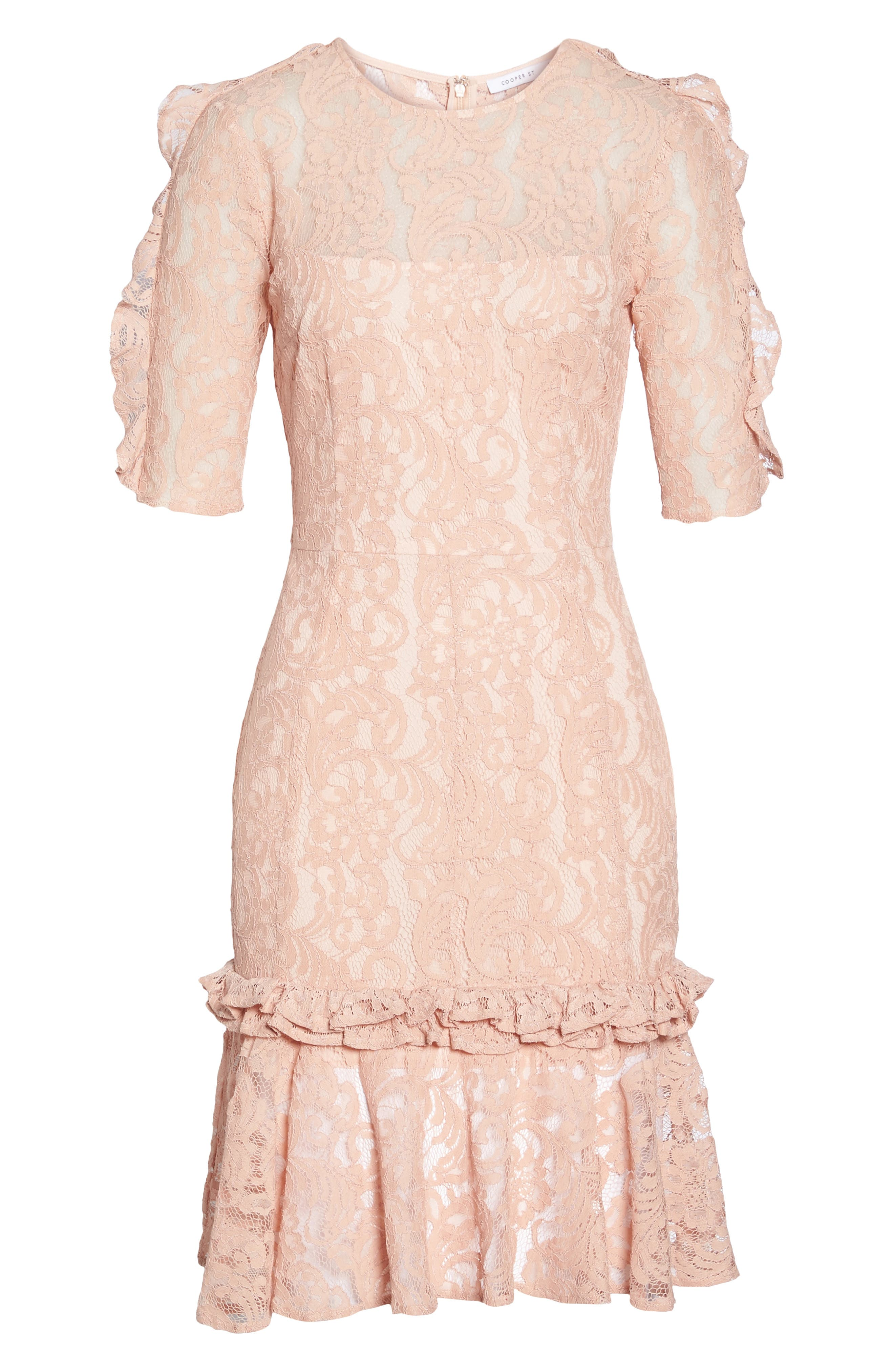 COOPER ST,                             Hushed Dove Lace Dress,                             Alternate thumbnail 6, color,                             650