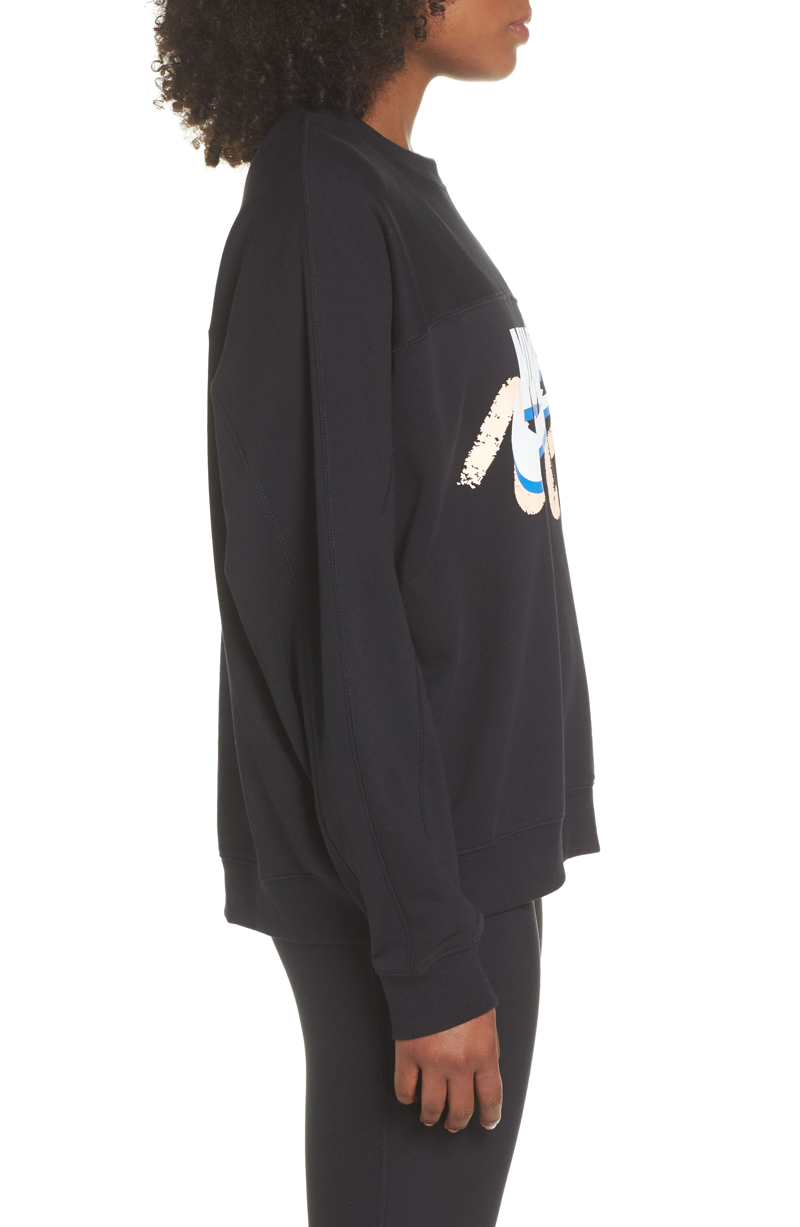 Archive Sweatshirt,                             Alternate thumbnail 3, color,                             BLACK/ BLACK/ BLACK