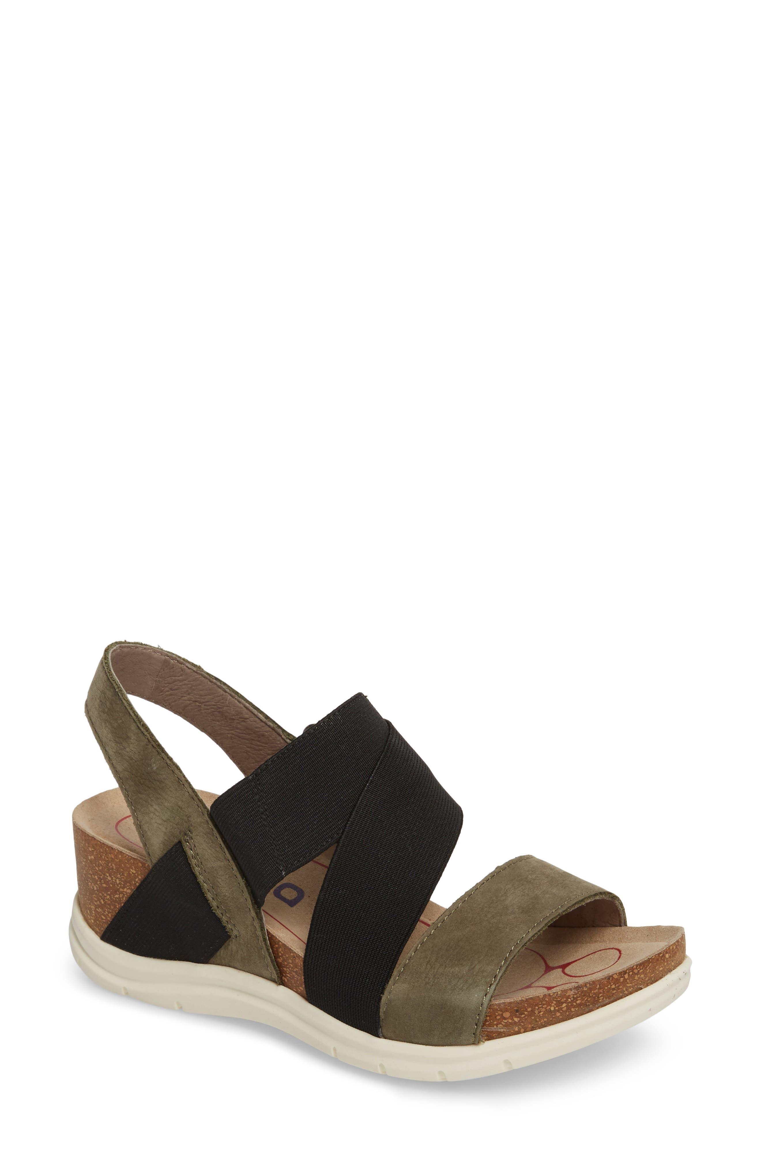 Paisley Wedge Sandal,                             Main thumbnail 3, color,