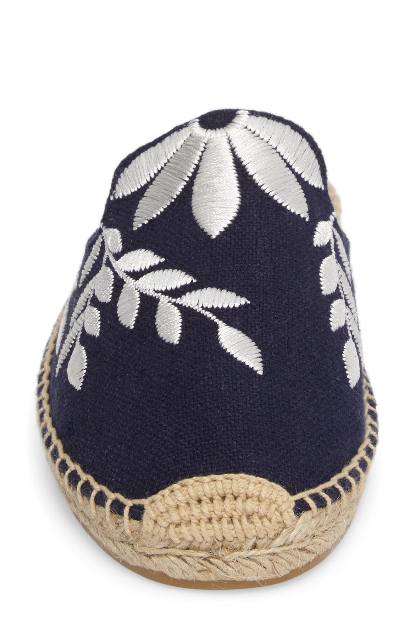 Embroidered Espadrille Mule,                             Alternate thumbnail 4, color,