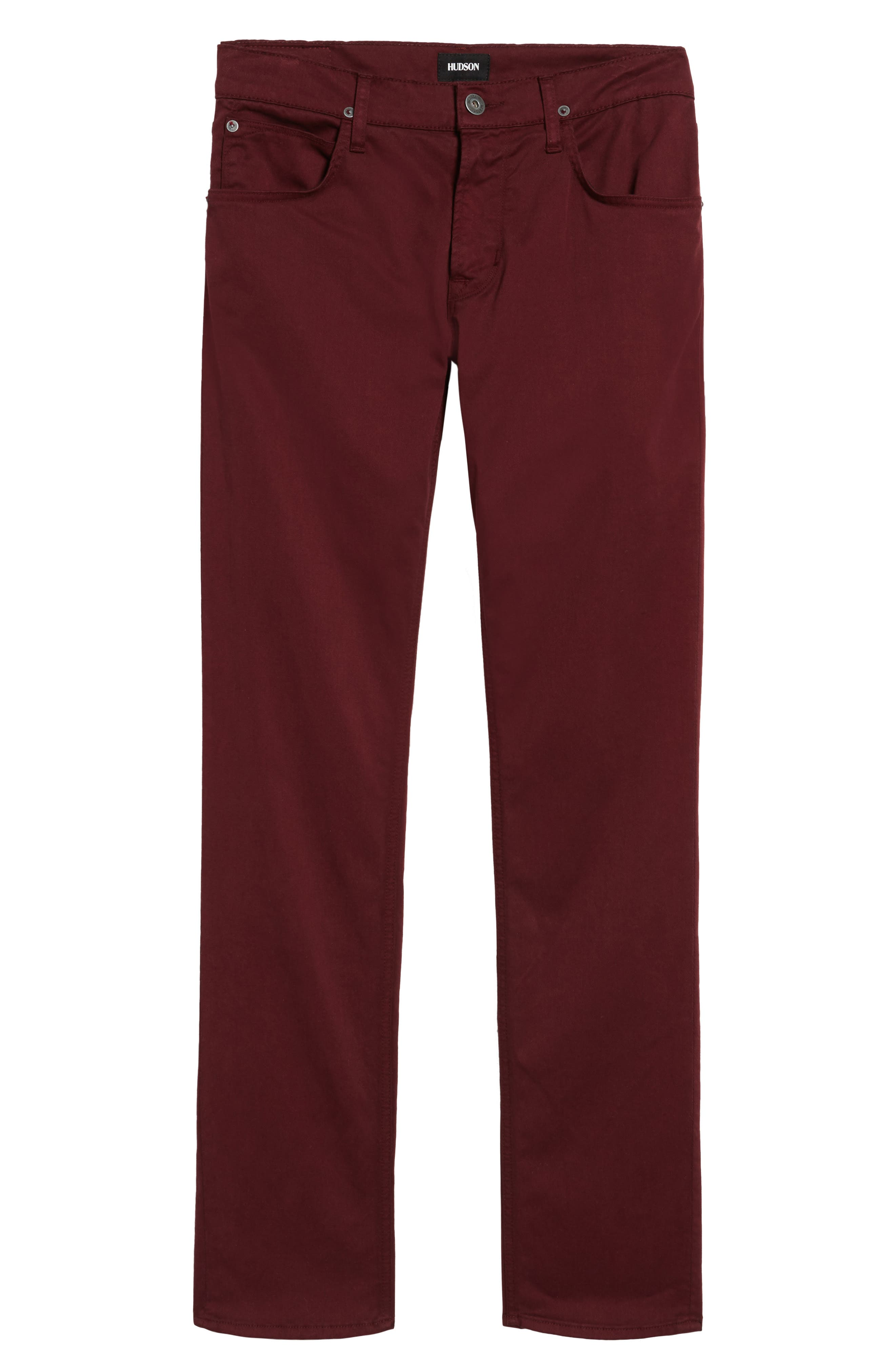 Blake Slim Fit Jeans,                             Alternate thumbnail 6, color,                             BURGUNDY