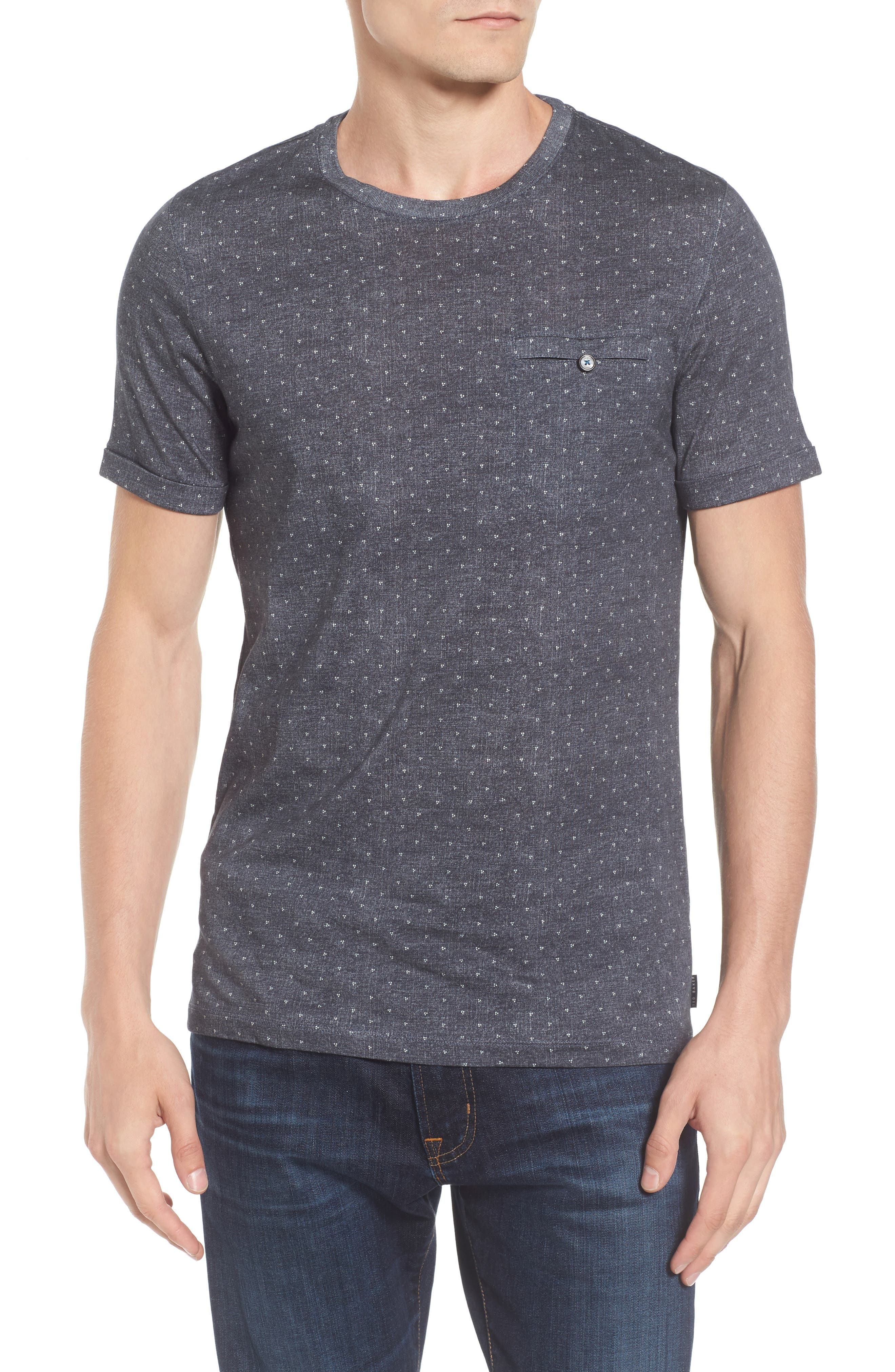 Giovani Modern Slim Fit Print T-Shirt,                         Main,                         color, 410