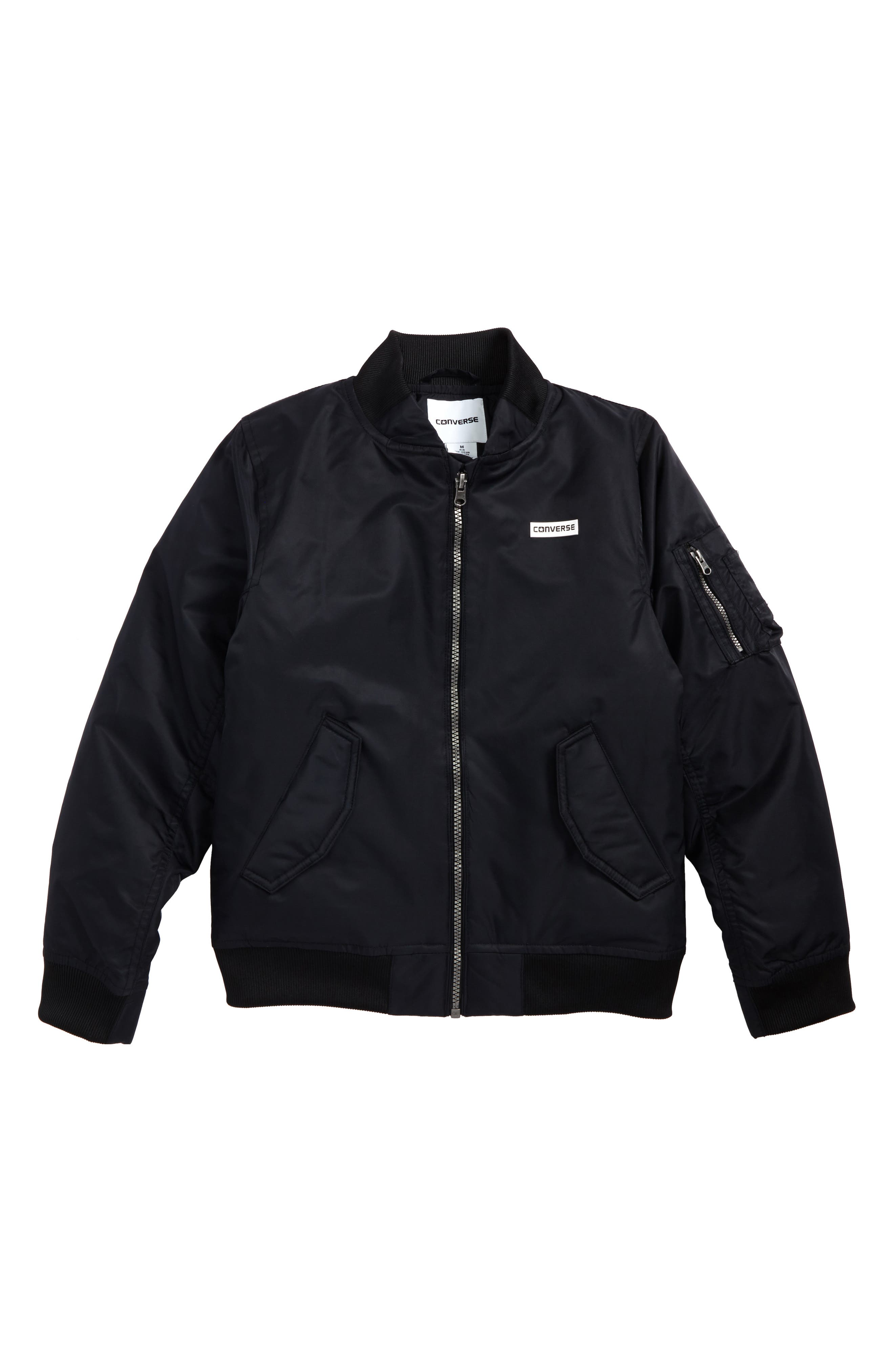 MA-1 Water Repellent Bomber Jacket,                         Main,                         color, 001