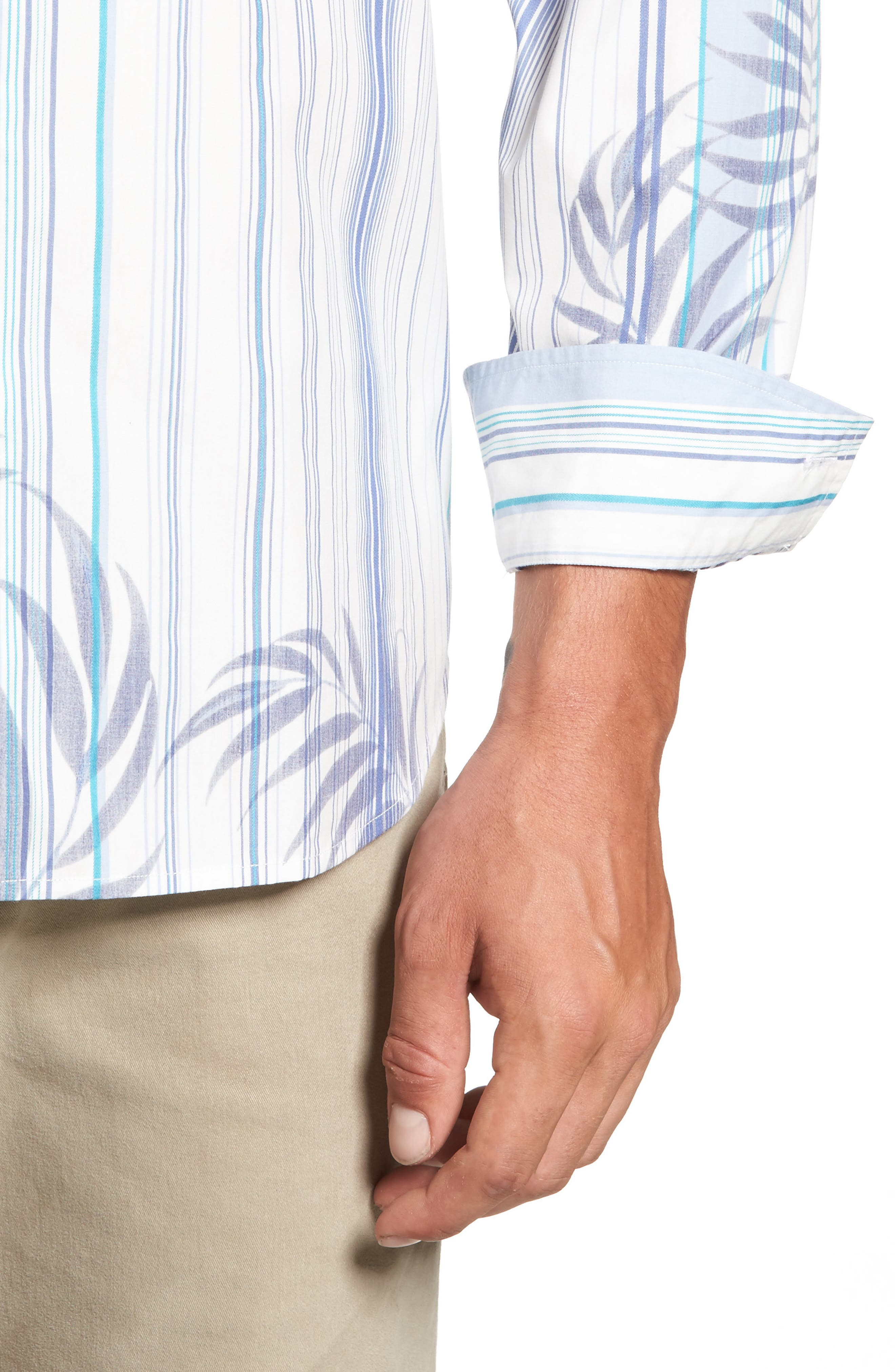 Frond with the Wind Sport Shirt,                             Alternate thumbnail 4, color,
