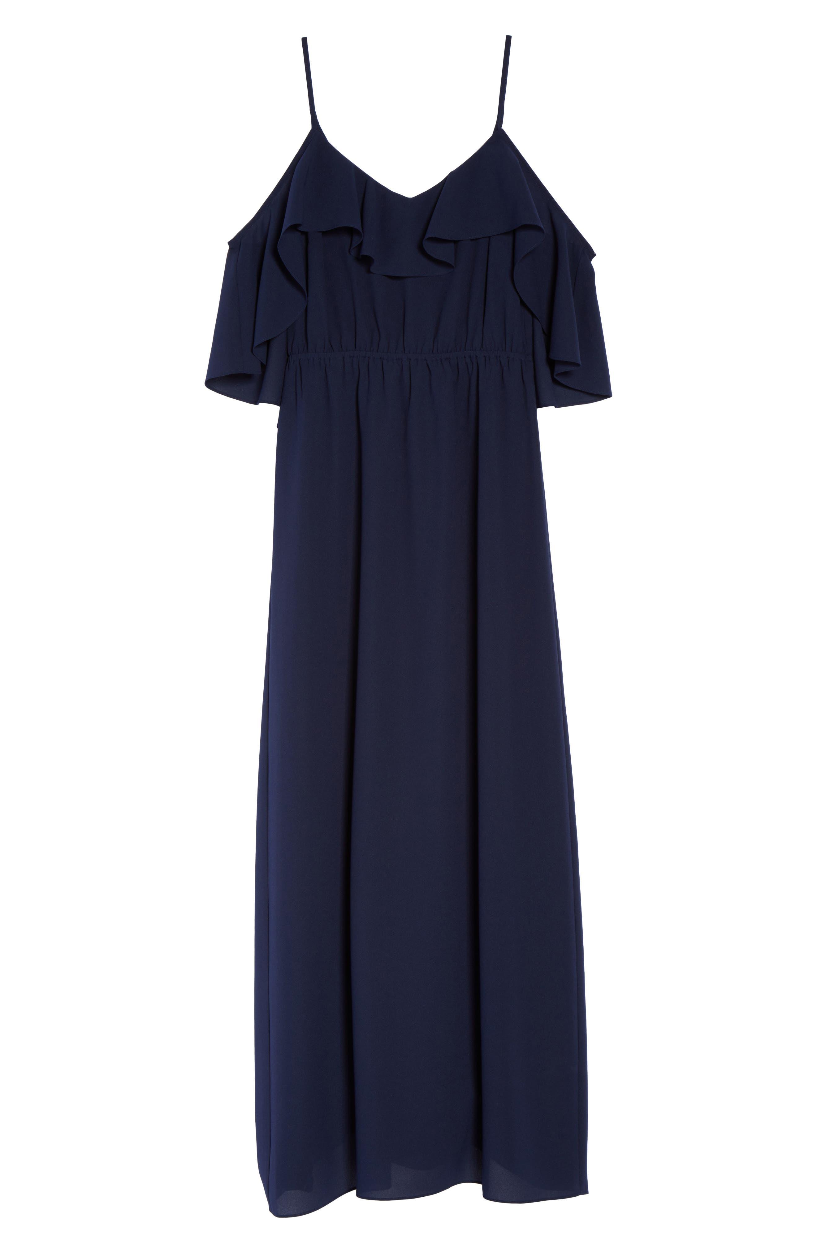 Love Story Cold Shoulder Maxi Dress,                             Alternate thumbnail 6, color,                             410