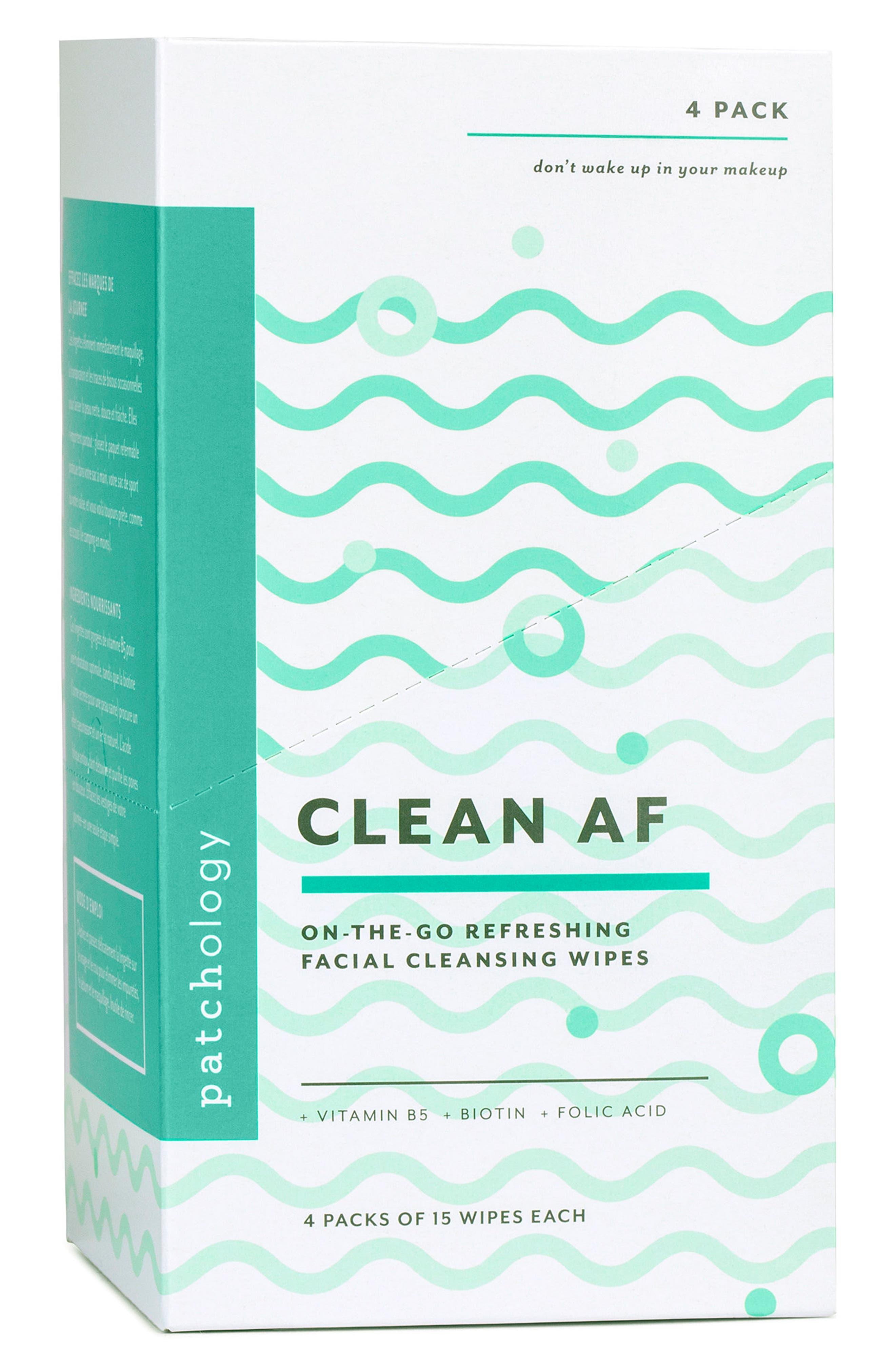 Clean AF On-the-Go Refreshing Facial Cleansing Wipes,                             Alternate thumbnail 2, color,                             NO COLOR