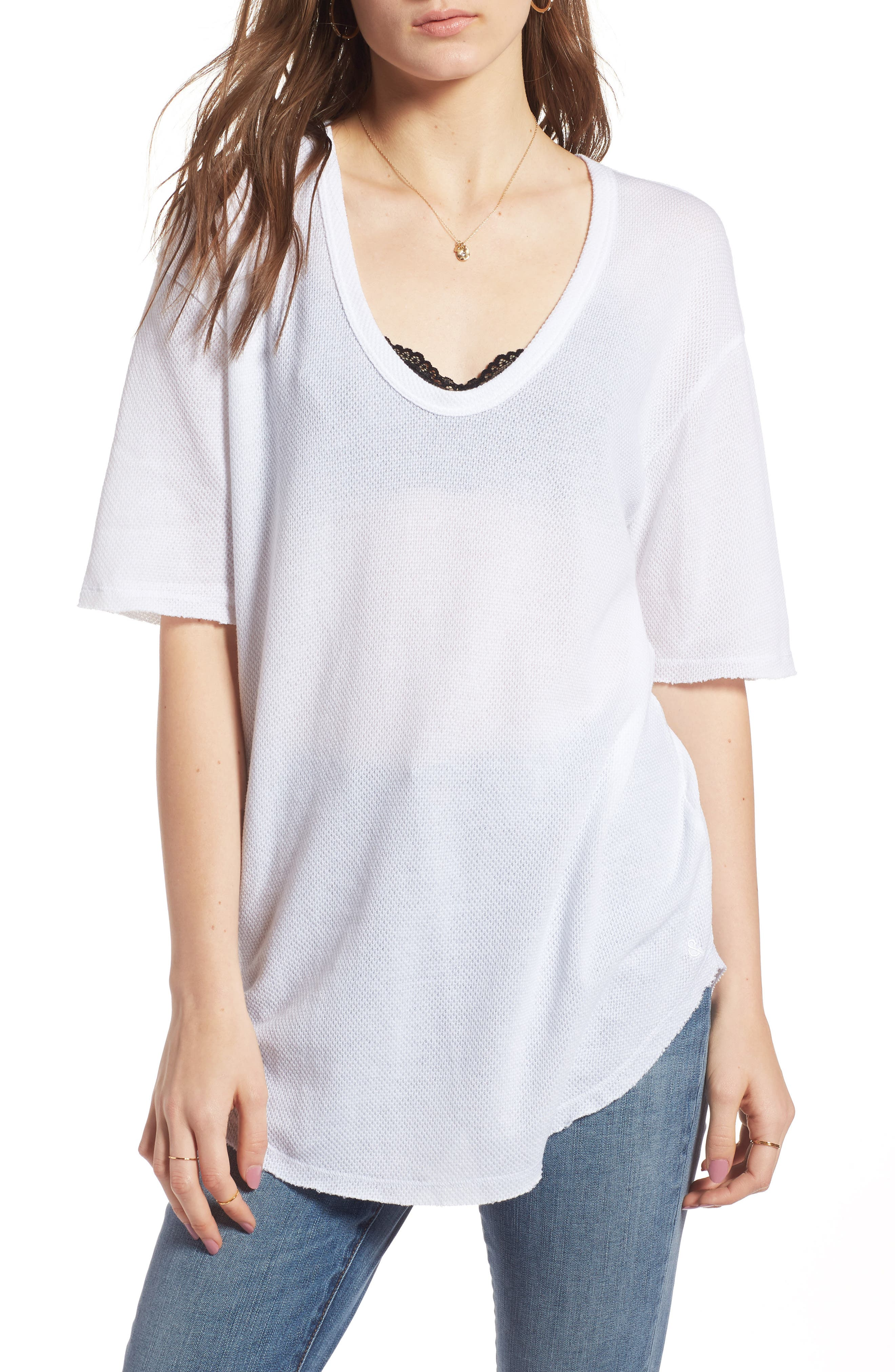 Scoop Neck Tee,                             Main thumbnail 1, color,