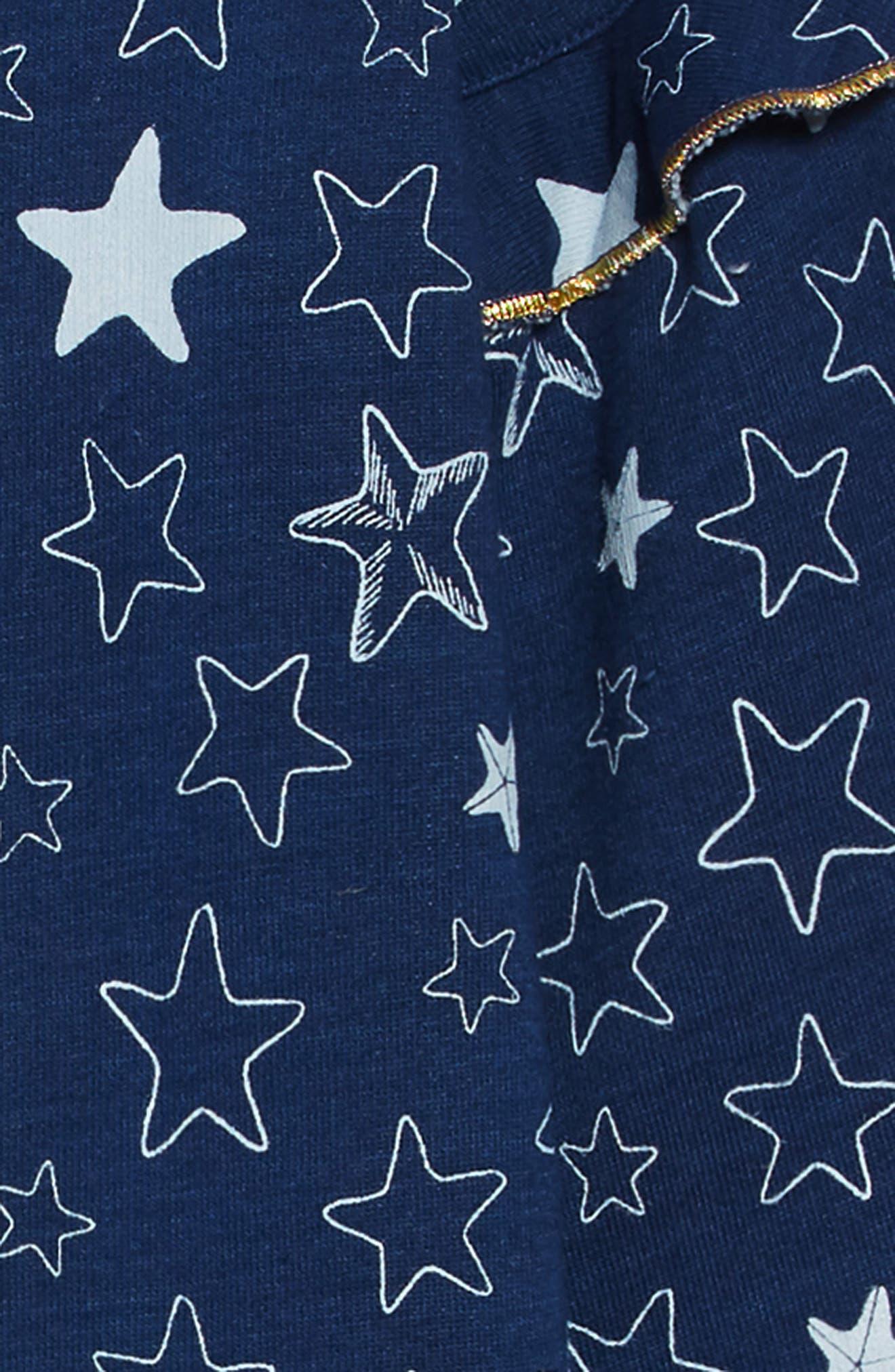 Starfish Sweatshirt Dress,                             Alternate thumbnail 3, color,                             BLUE