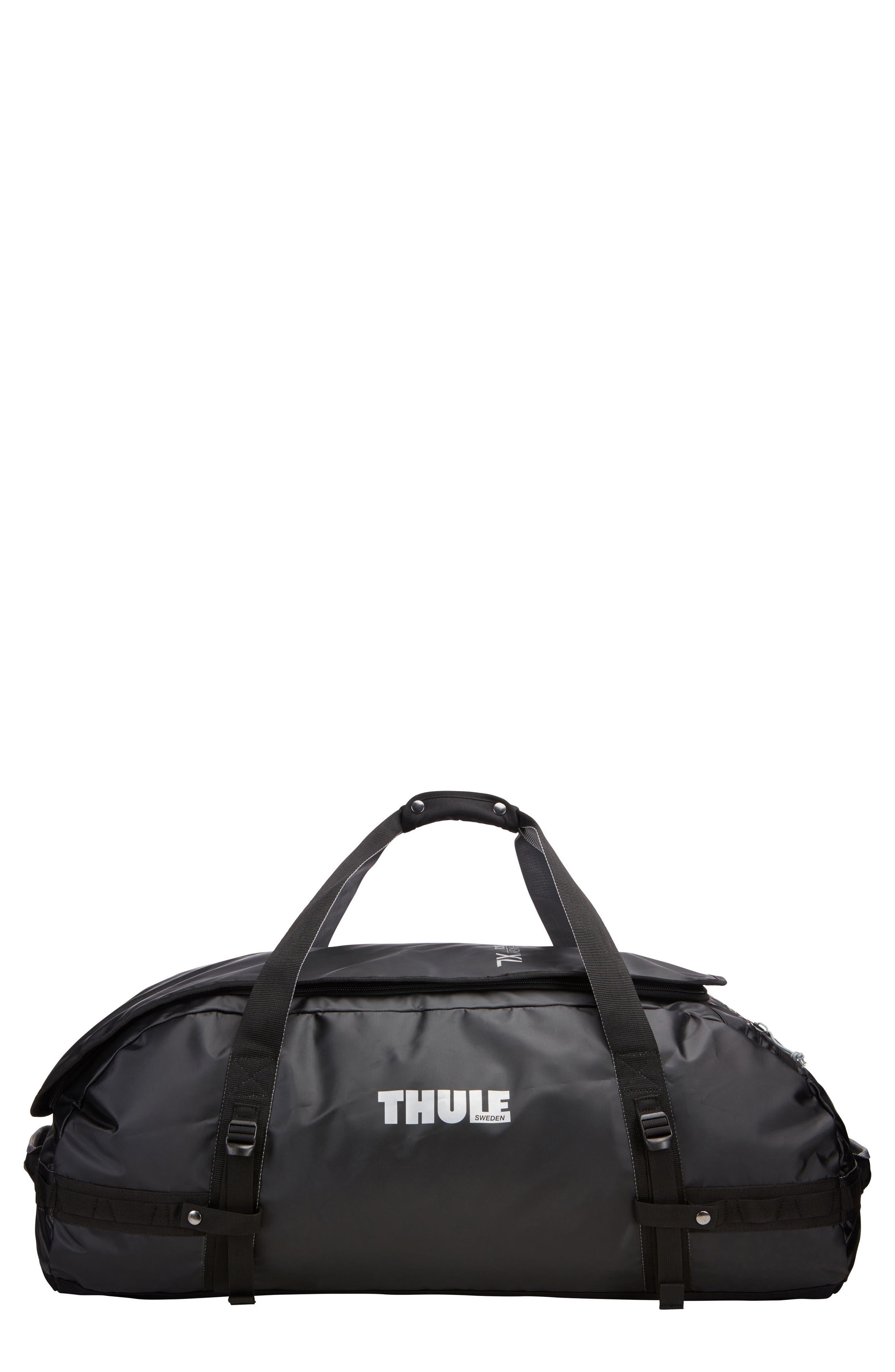 Chasm 130-Liter Convertible Duffel Bag,                             Main thumbnail 1, color,                             BLACK