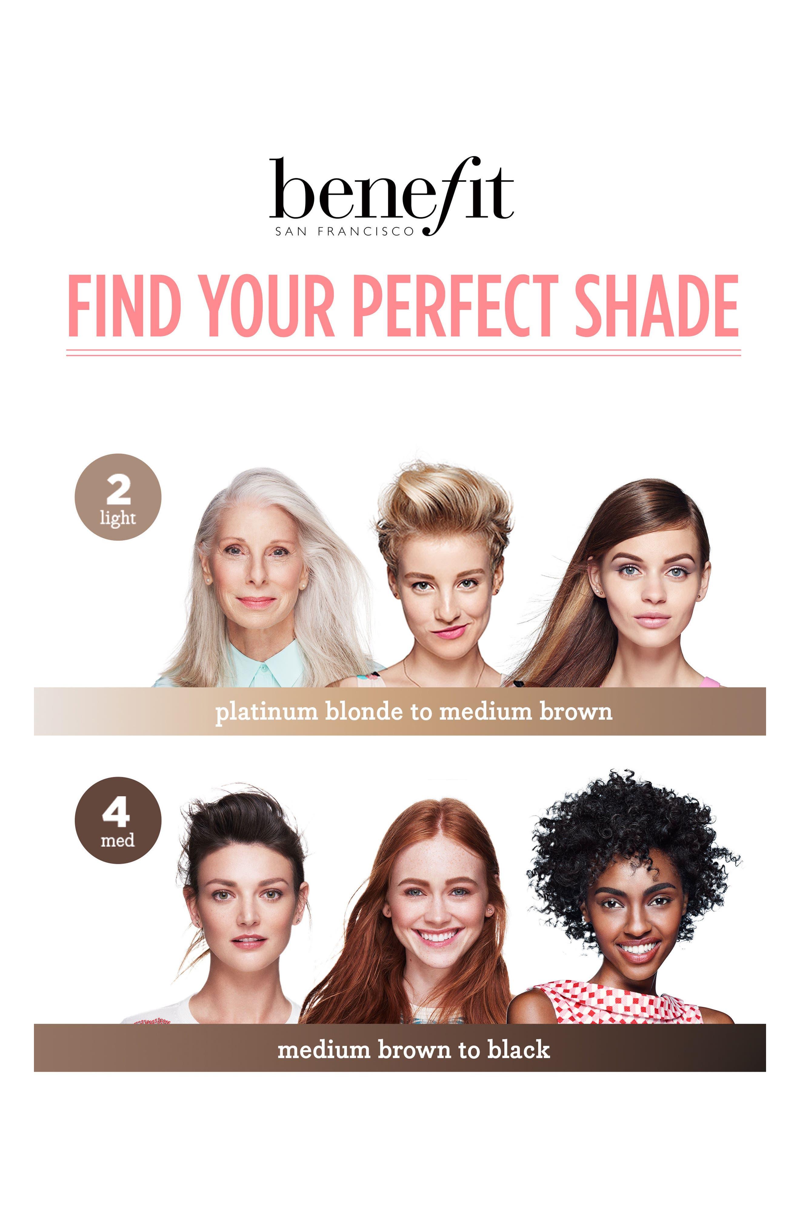 Benefit 3D BROWtones Instant Color Eyebrow Highlights,                             Alternate thumbnail 5, color,                             02 LIGHT MEDIUM