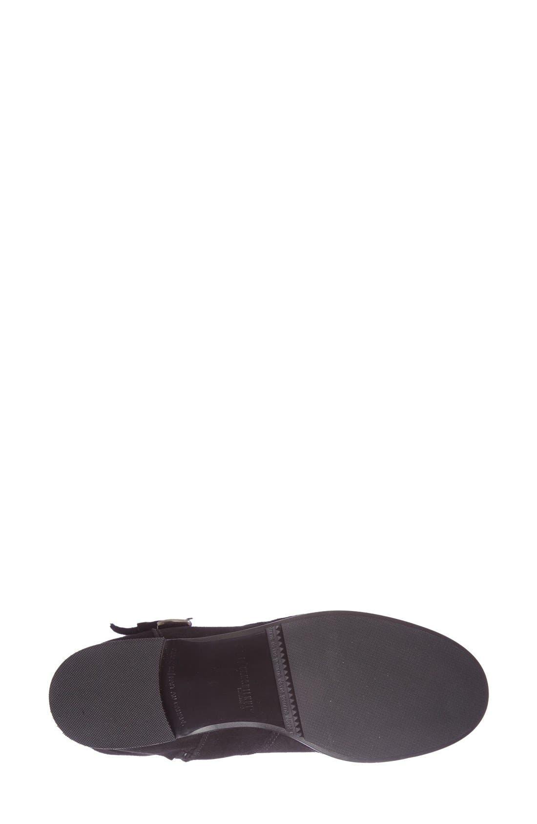 'Stefanie' Waterproof Boot,                             Alternate thumbnail 9, color,                             BLACK SUEDE