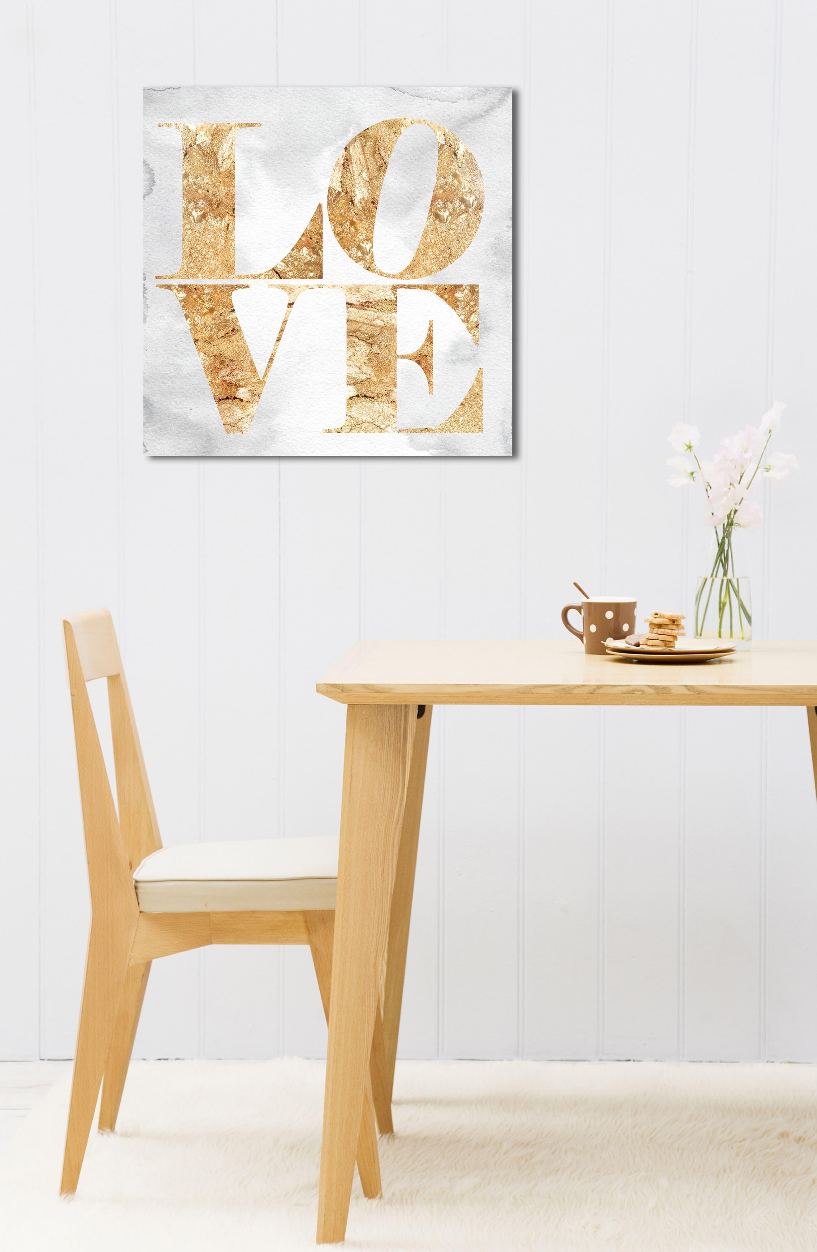 Love Canvas Wall Art,                             Alternate thumbnail 5, color,