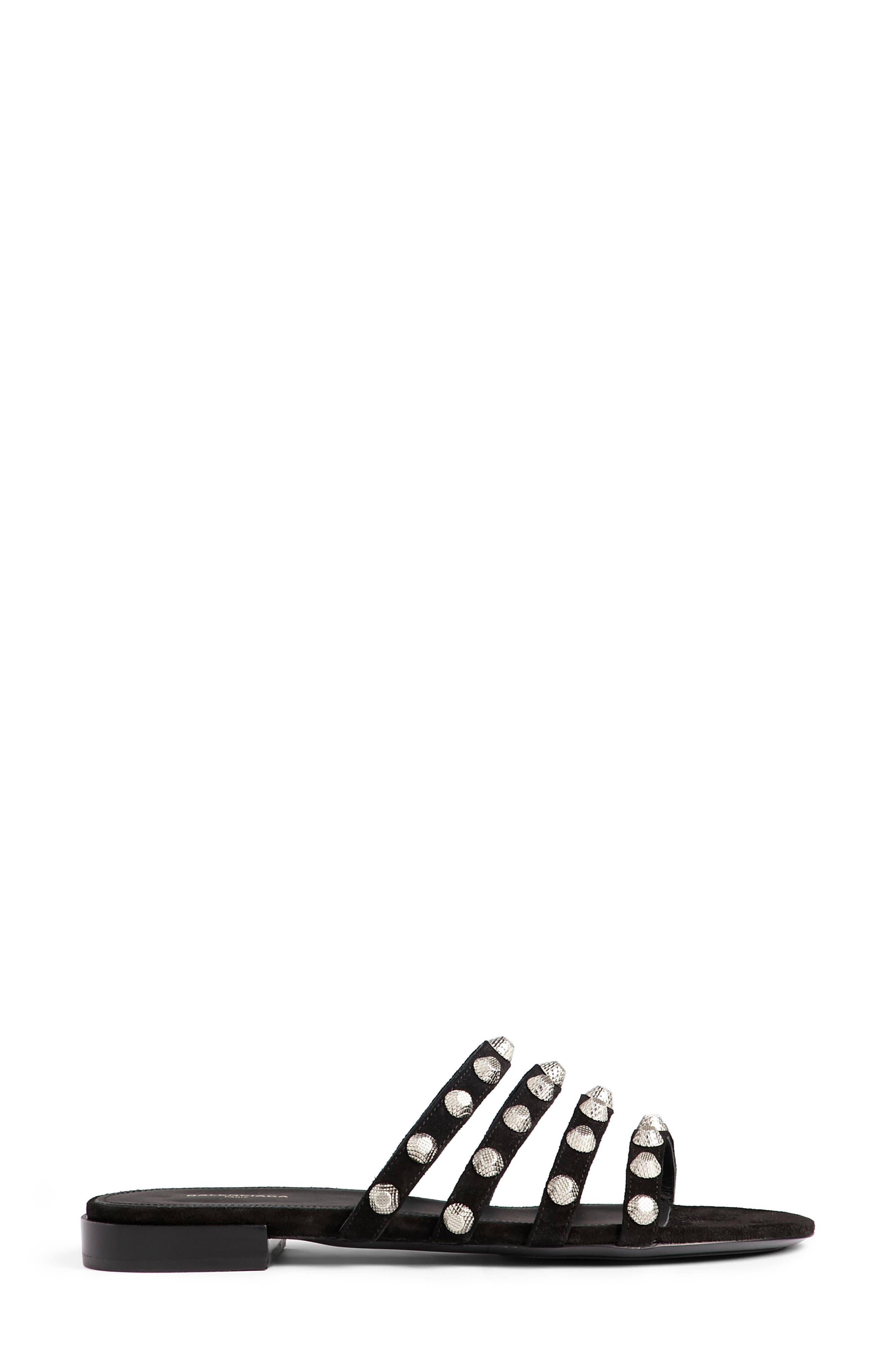 Studded Slide Sandal,                             Alternate thumbnail 4, color,                             001