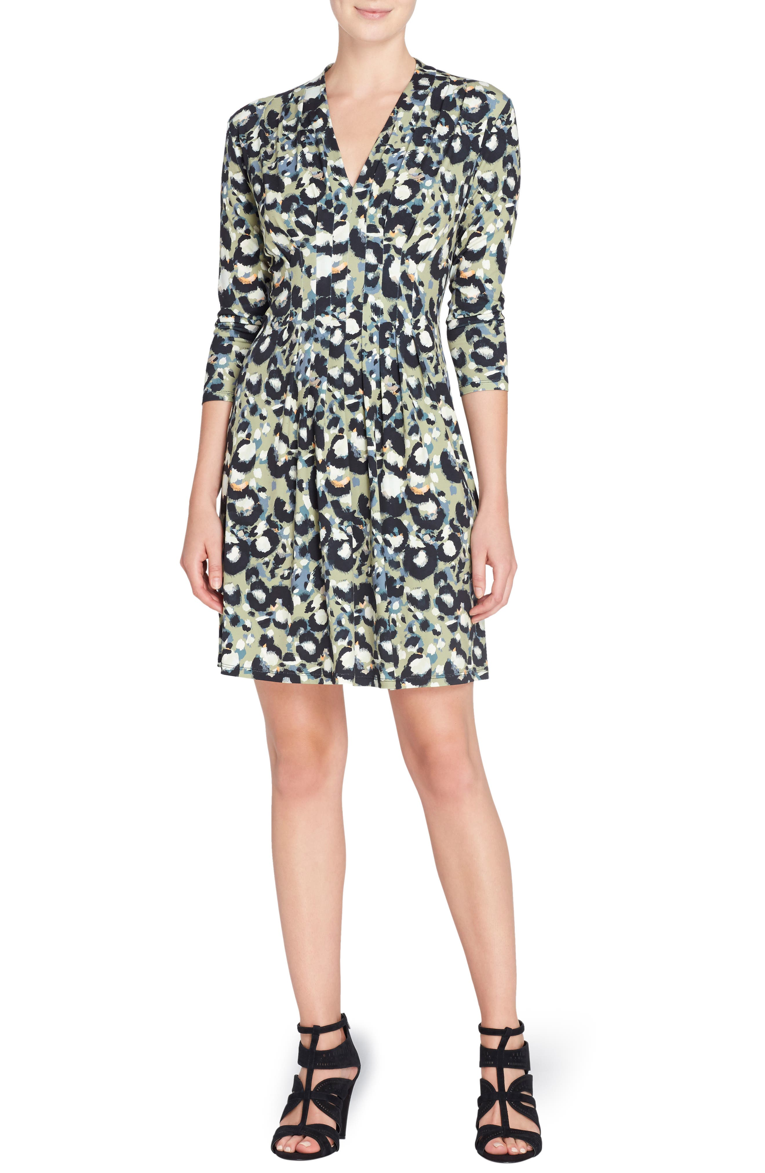 Tinka Pleat Sheath Dress,                         Main,                         color, 391