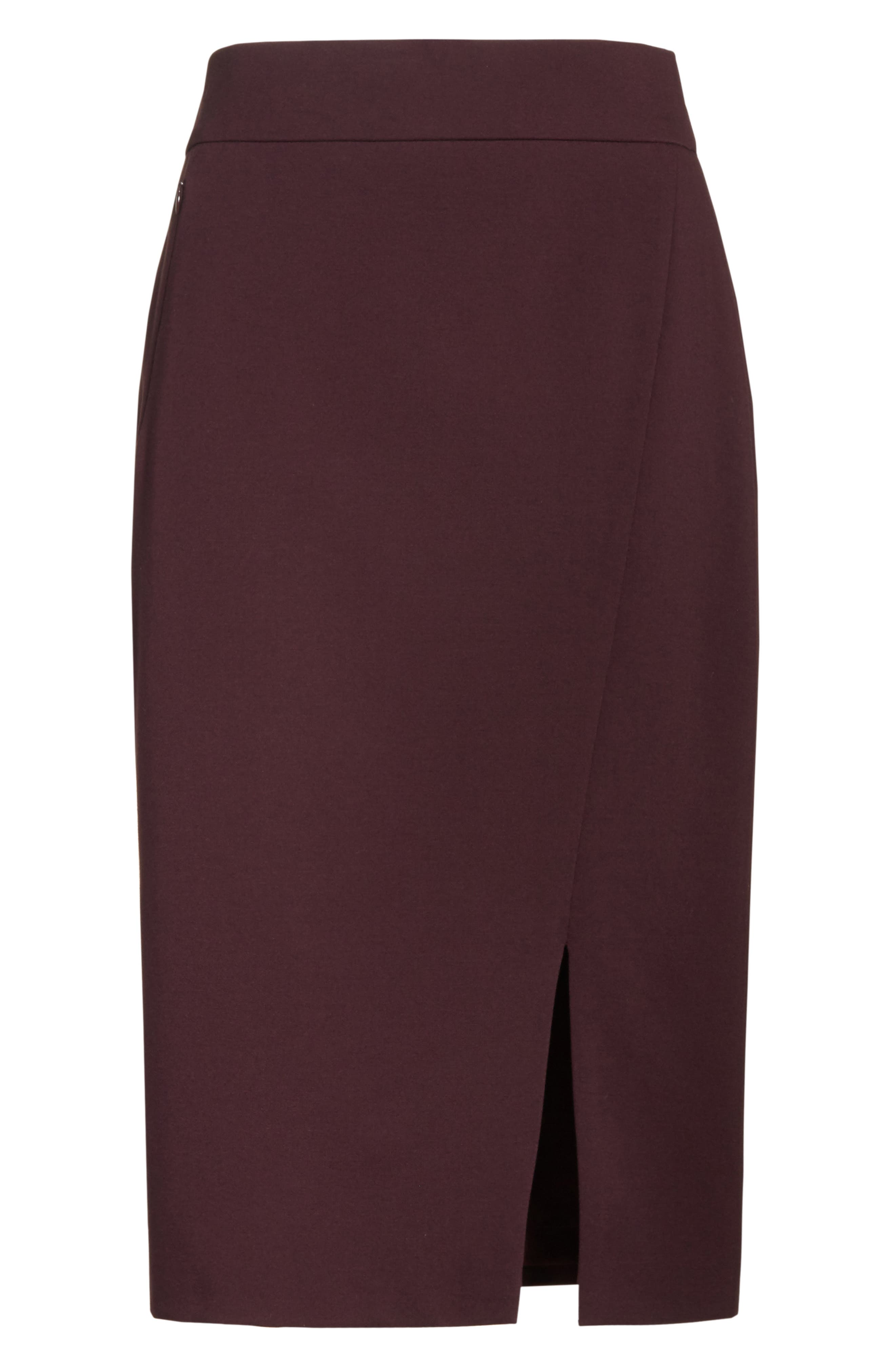 Gabardine Pencil Skirt,                             Alternate thumbnail 6, color,                             930