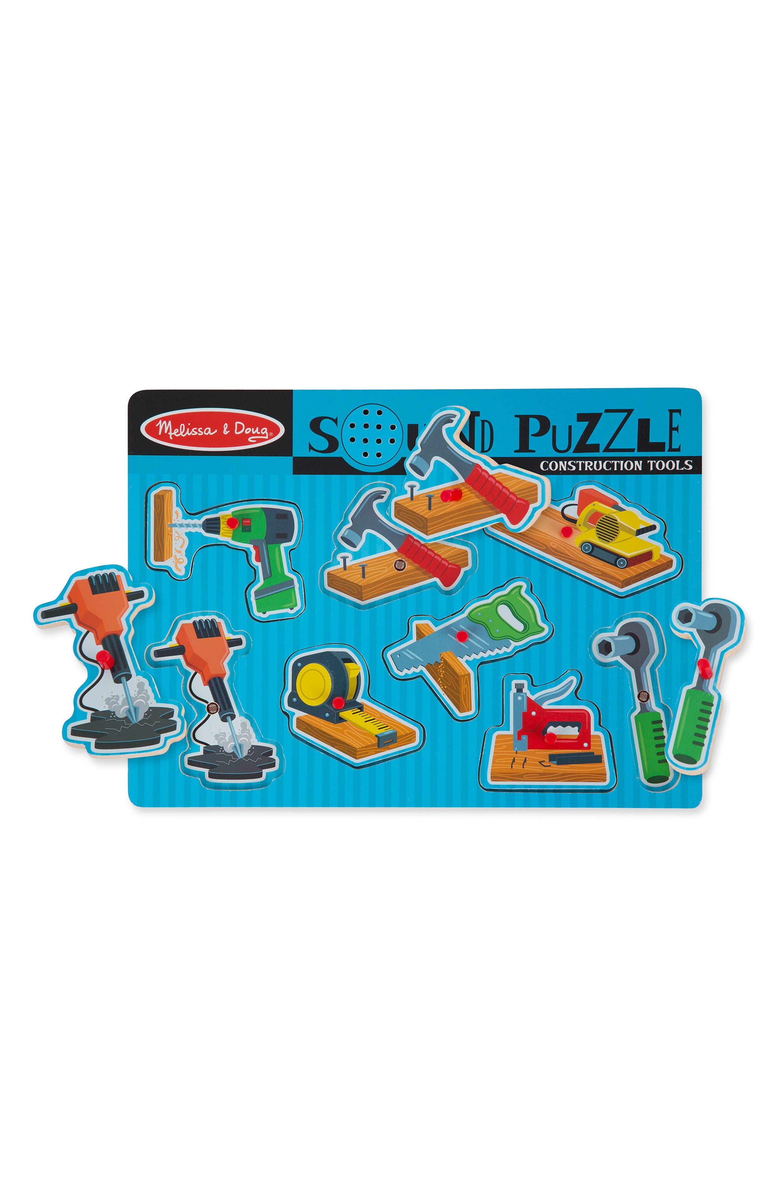 MELISSA & DOUG,                             Construction Tools Sound Puzzle,                             Alternate thumbnail 2, color,                             400