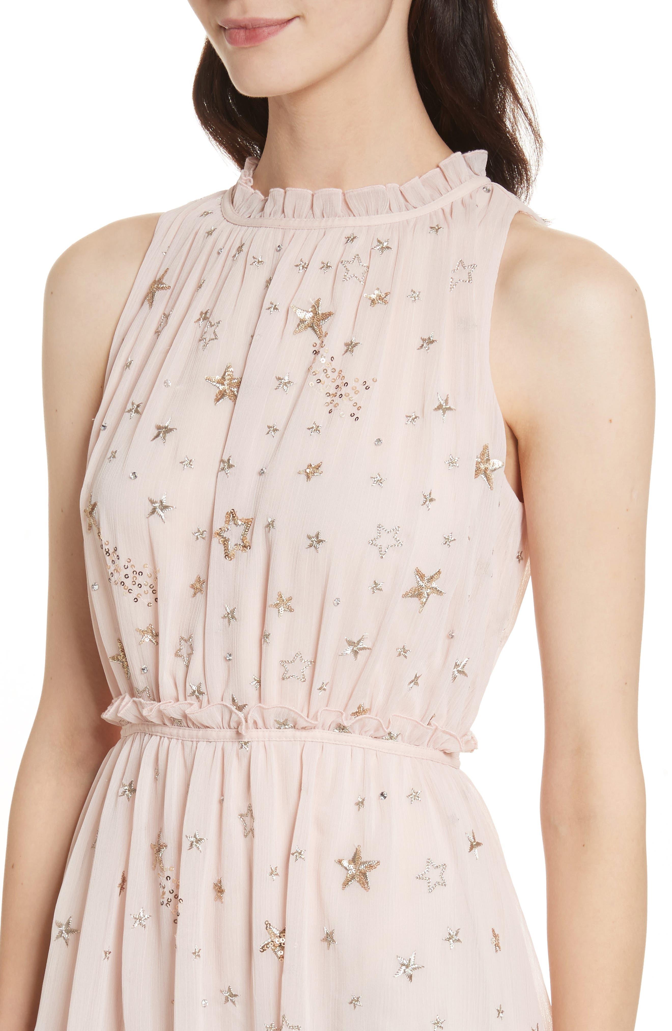 amada embellished midi dress,                             Alternate thumbnail 4, color,