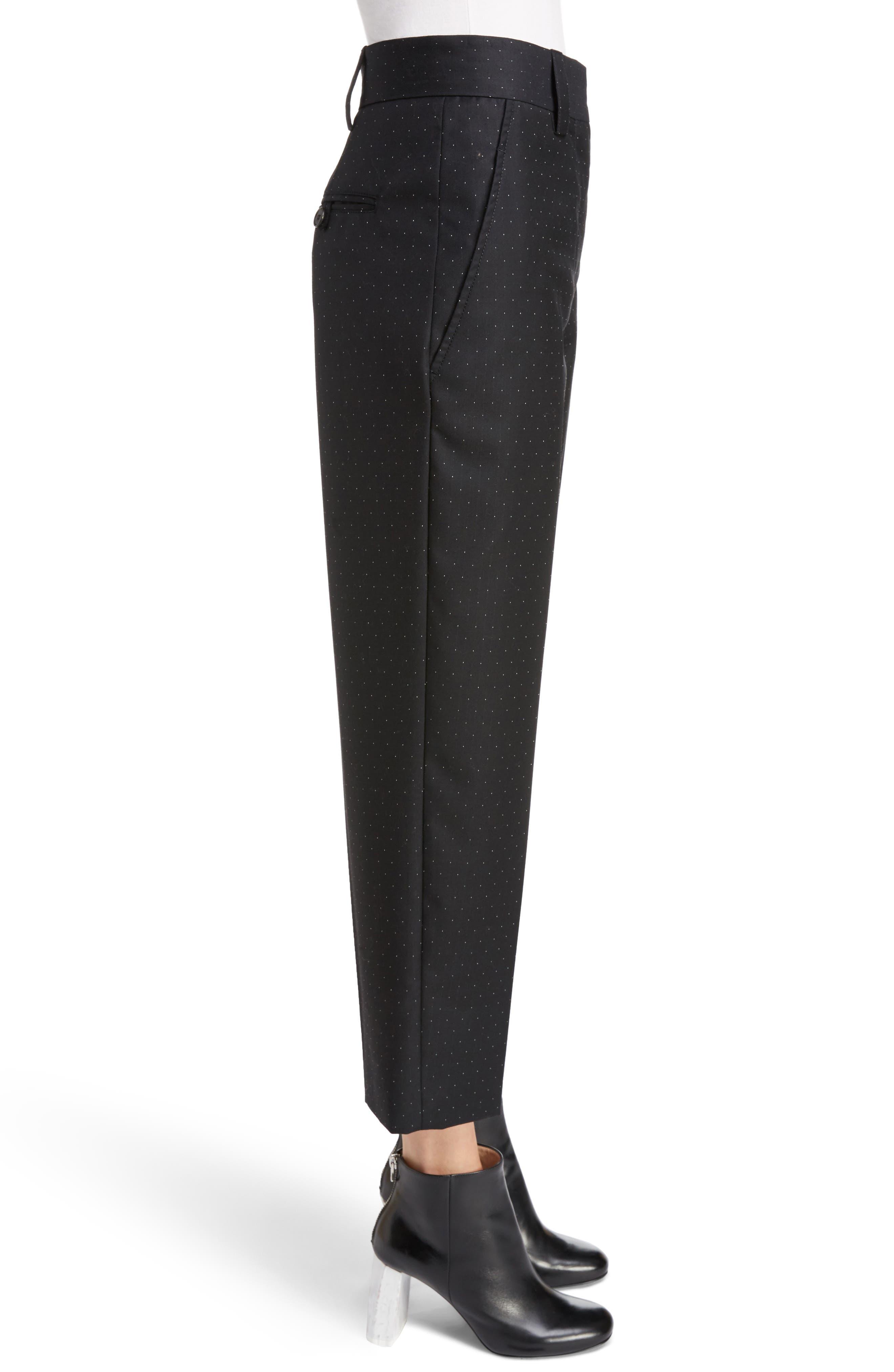 Trea Dot Straight Leg Pants,                             Alternate thumbnail 3, color,                             410