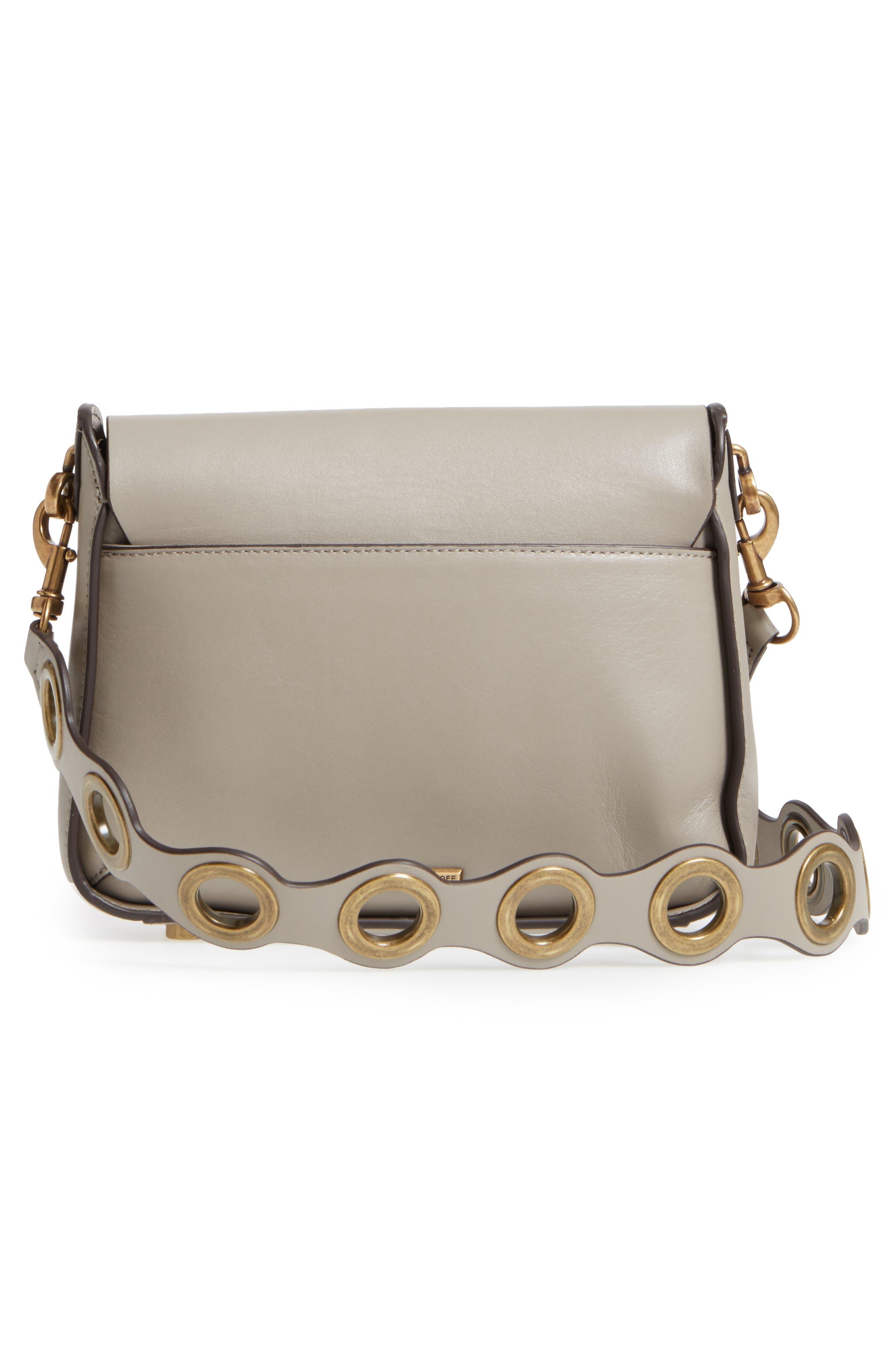 Ring Leather Shoulder Bag,                             Alternate thumbnail 6, color,