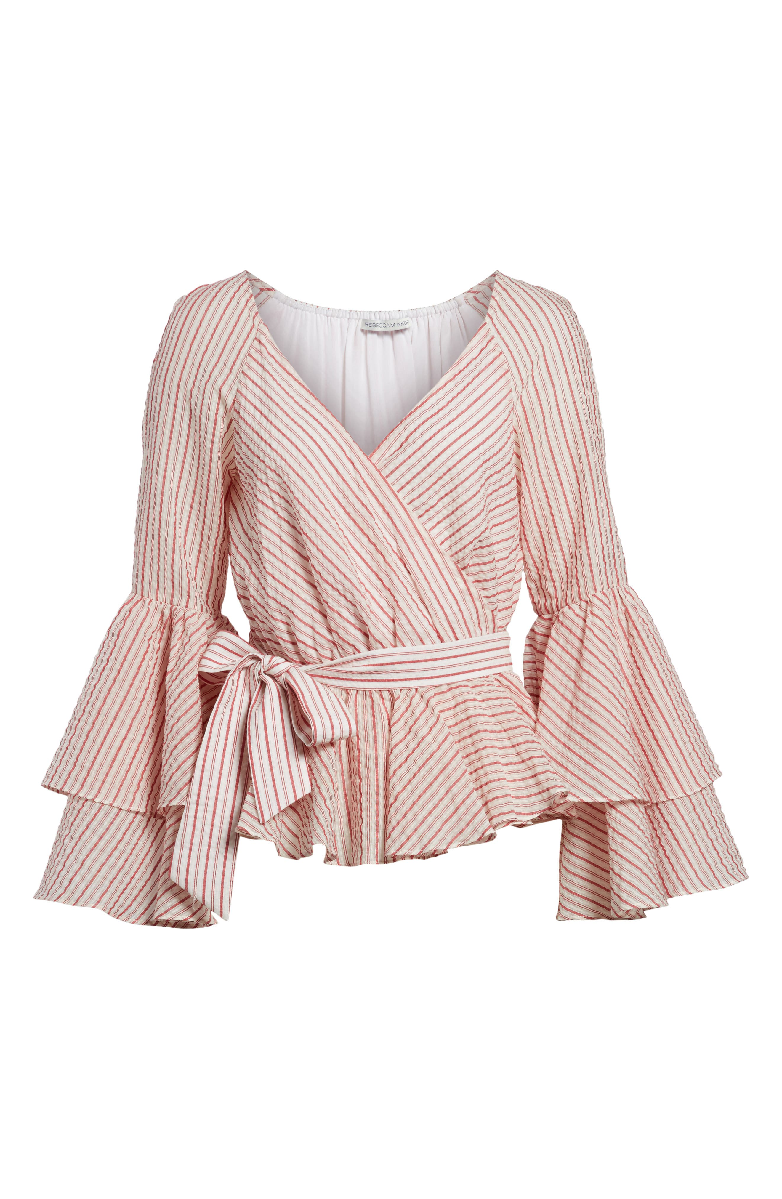Melly Stripe Top,                             Alternate thumbnail 6, color,                             603
