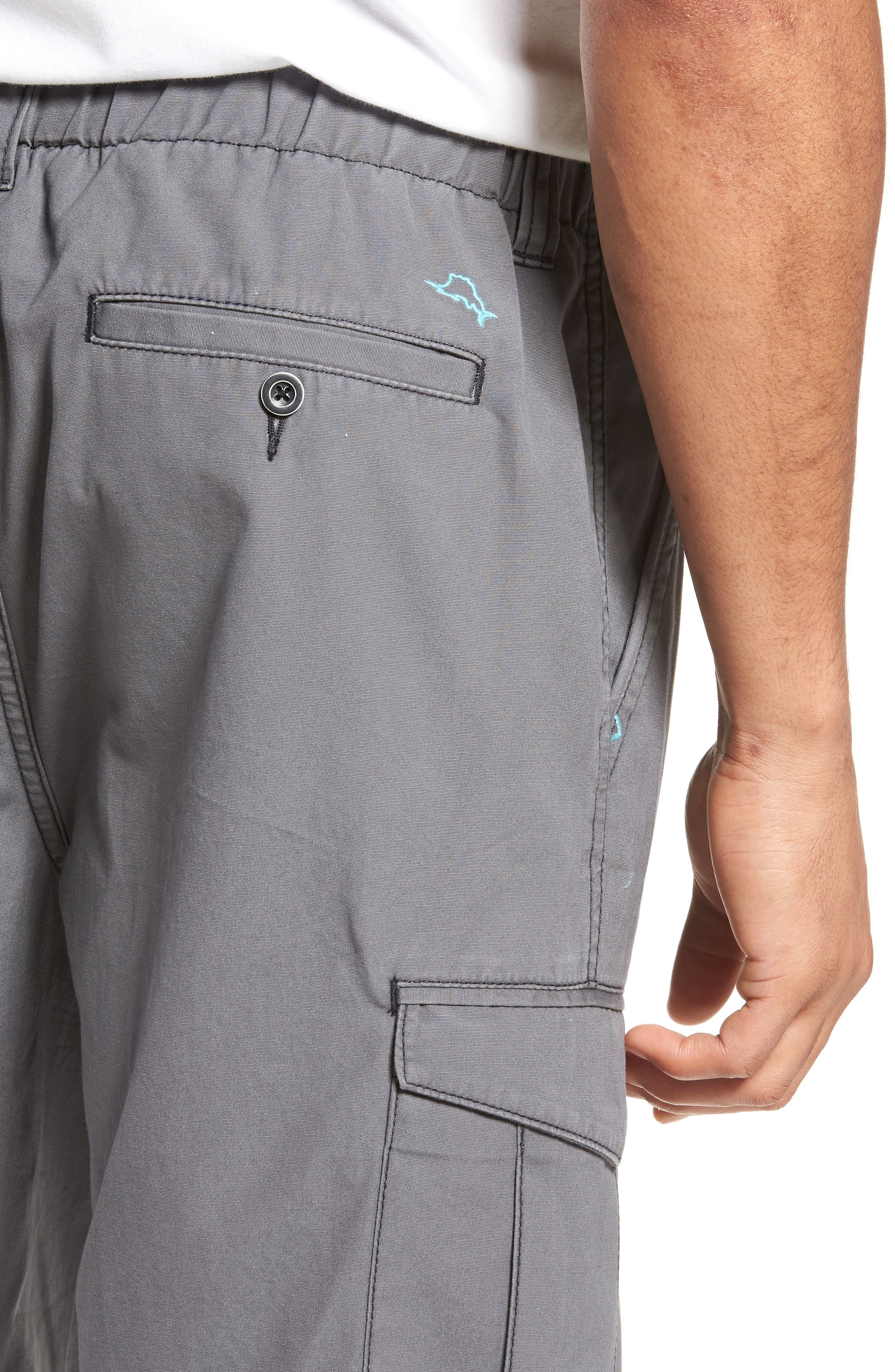 Island Survivalist Cargo Shorts,                             Alternate thumbnail 4, color,                             FOG GREY
