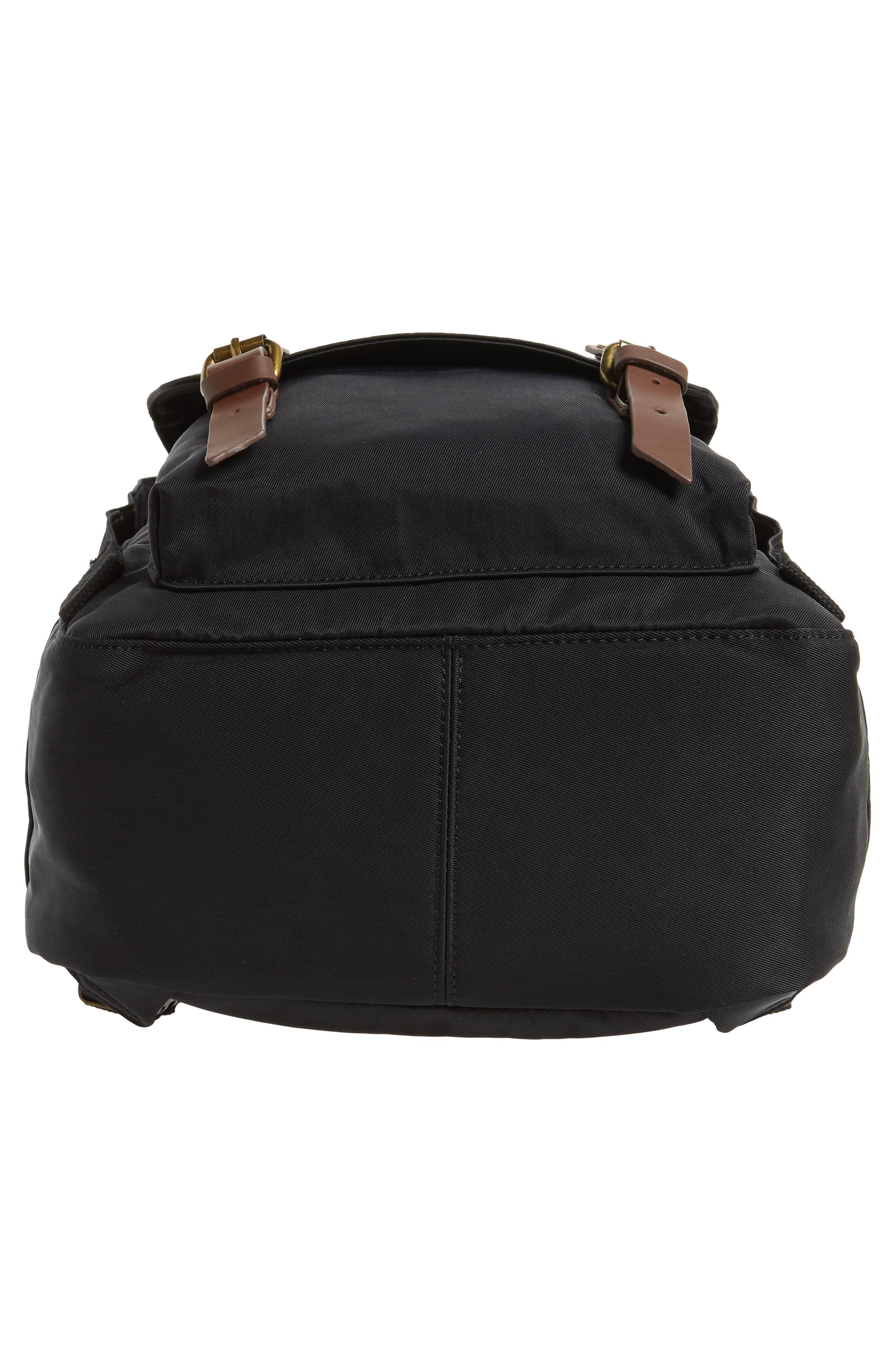 Macaroon Water Resistant Backpack,                             Alternate thumbnail 6, color,                             BLACK