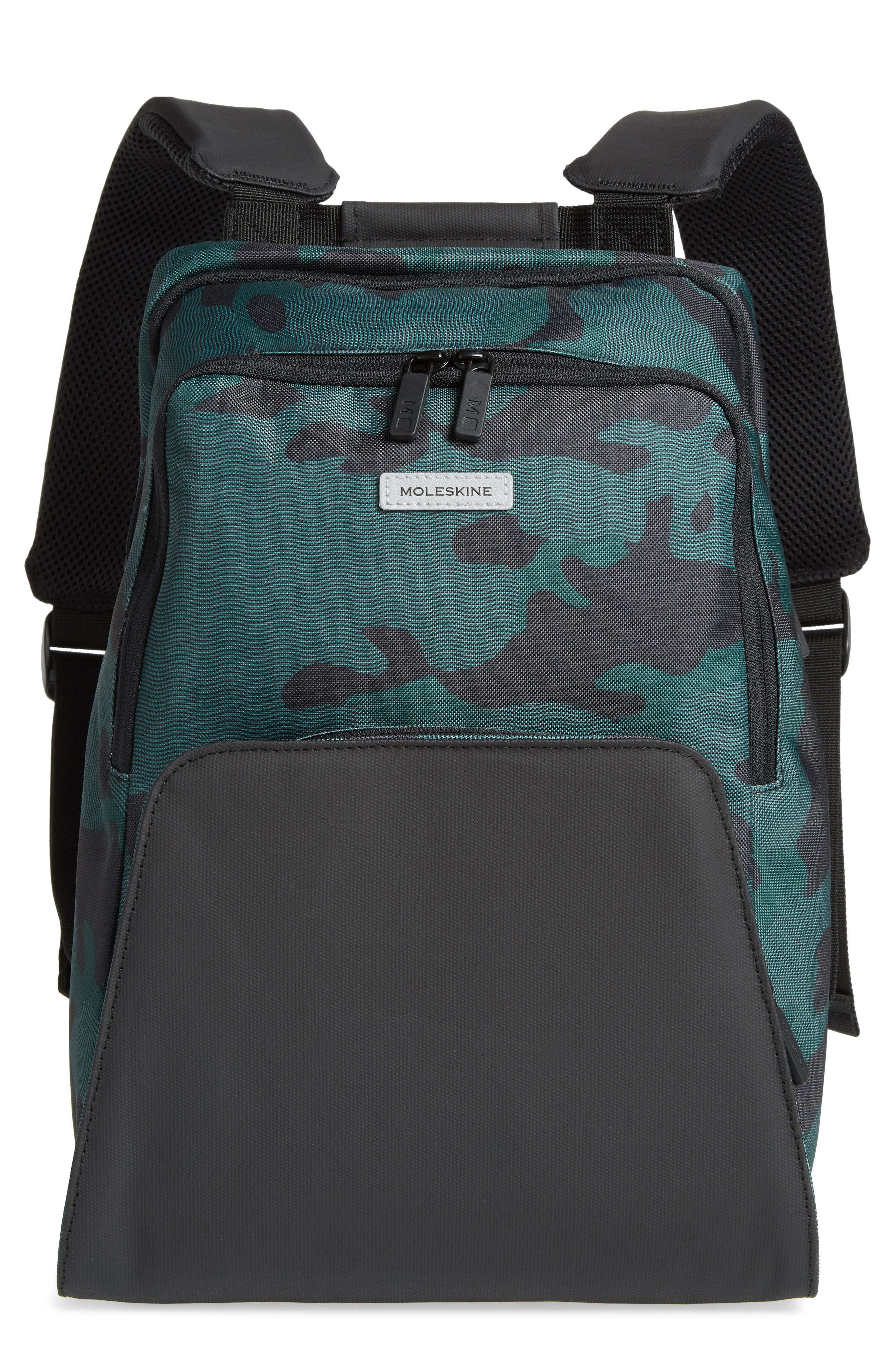 Nomad Water Resistant Backpack,                             Main thumbnail 1, color,                             CAMO GREEN