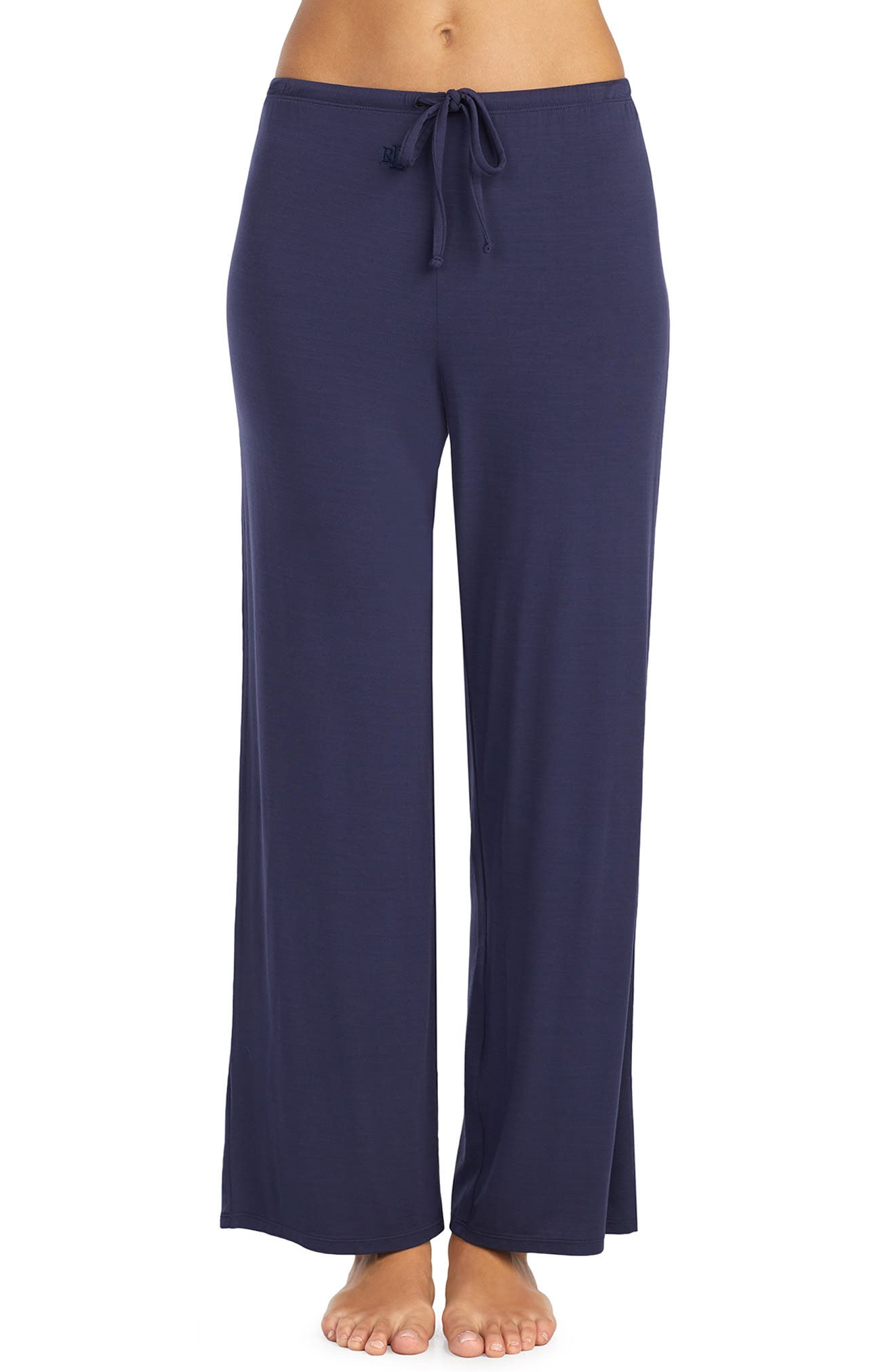 LAUREN RALPH LAUREN Pajama Pants, Main, color, NAVY
