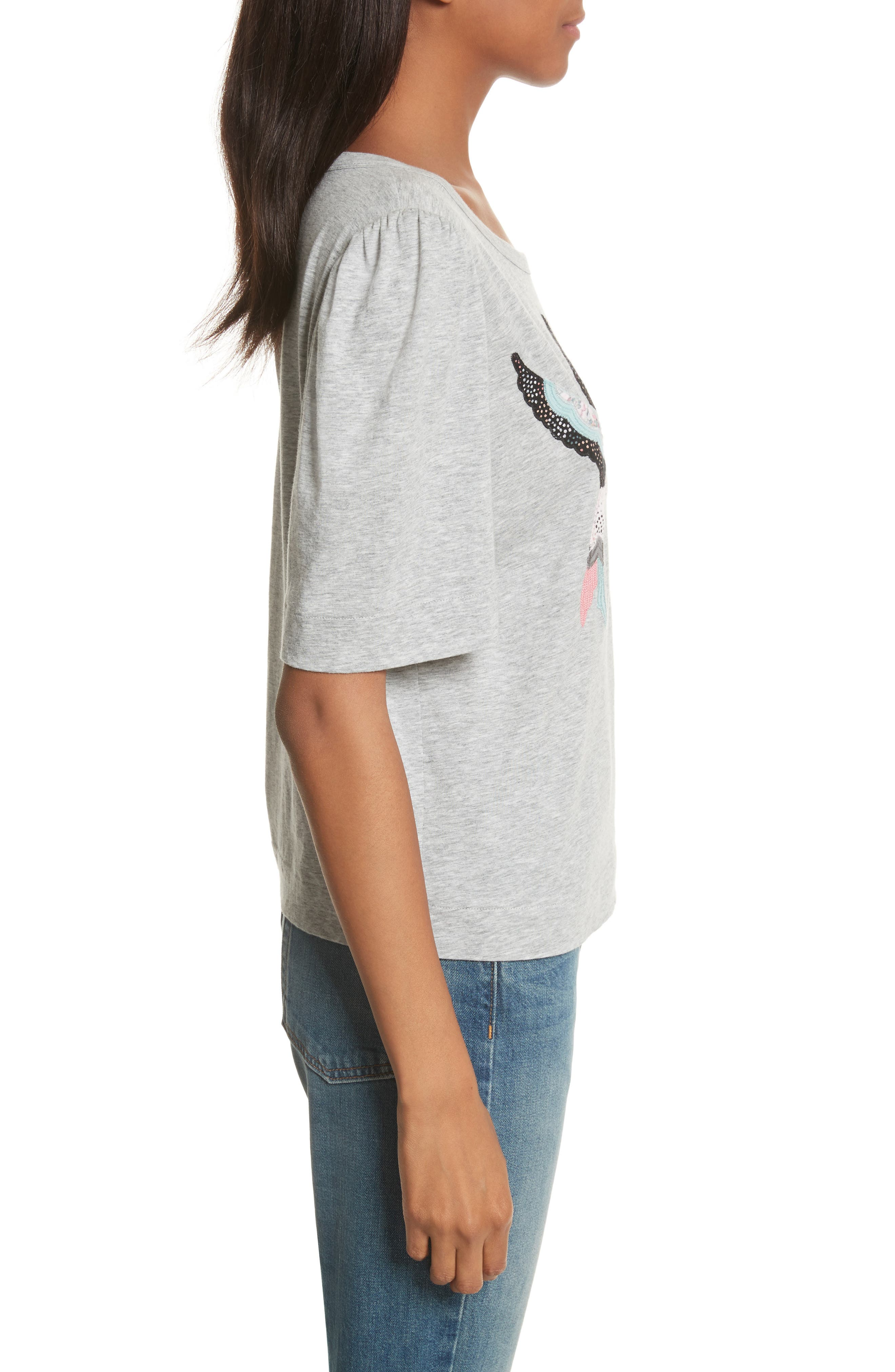 Bird Patch Jersey Top,                             Alternate thumbnail 3, color,                             038