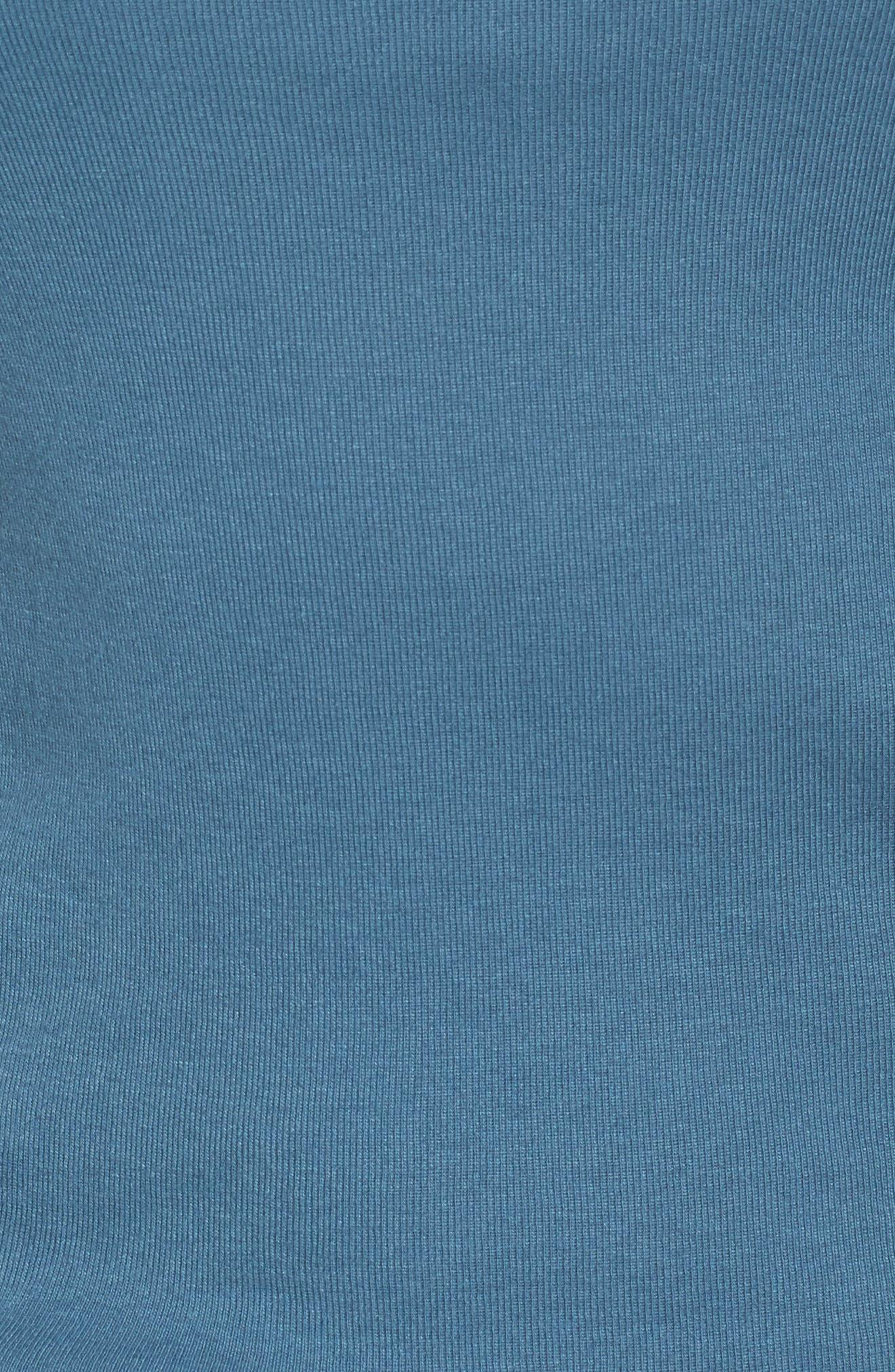 Ballet Neck Cotton & Modal Knit Elbow Sleeve Tee,                             Alternate thumbnail 227, color,