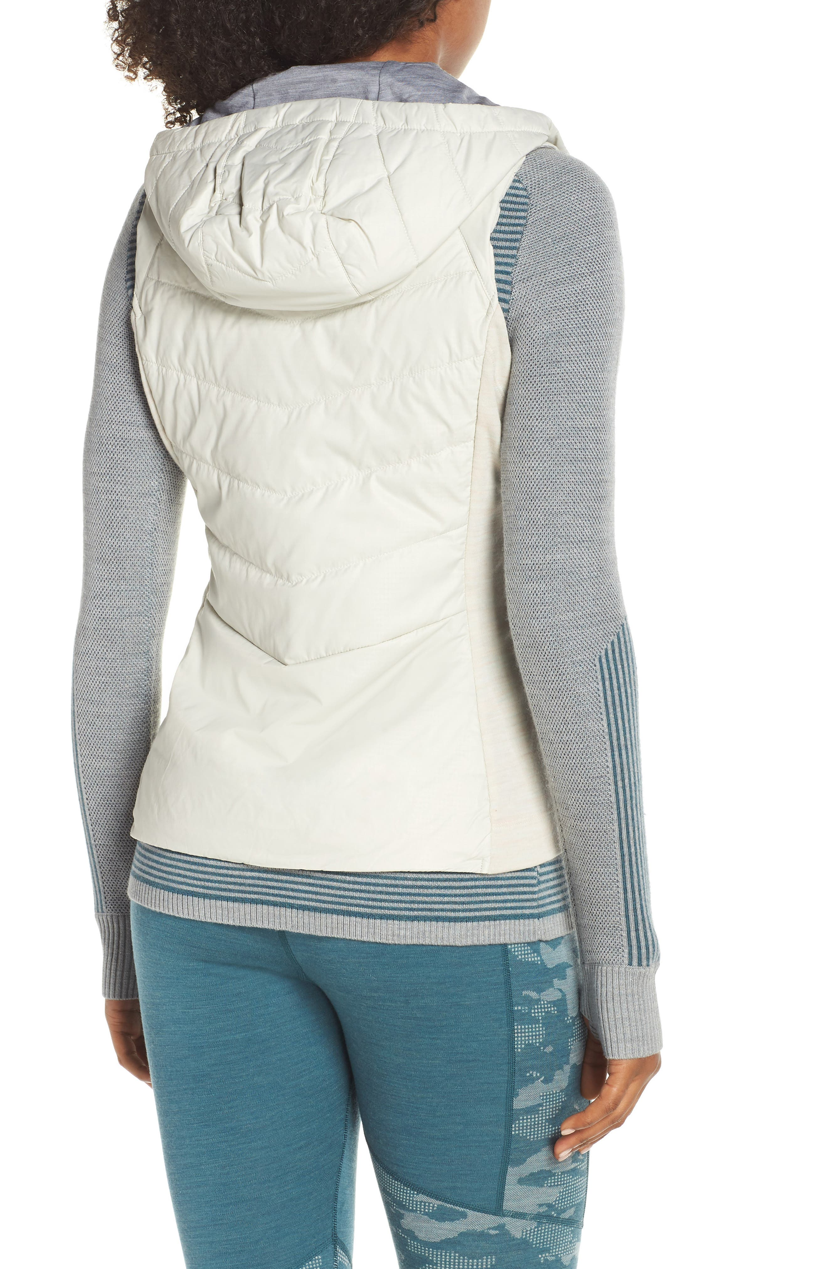 Smartloft 60 Insulated Hooded Vest,                             Alternate thumbnail 2, color,                             SILVER BIRCH