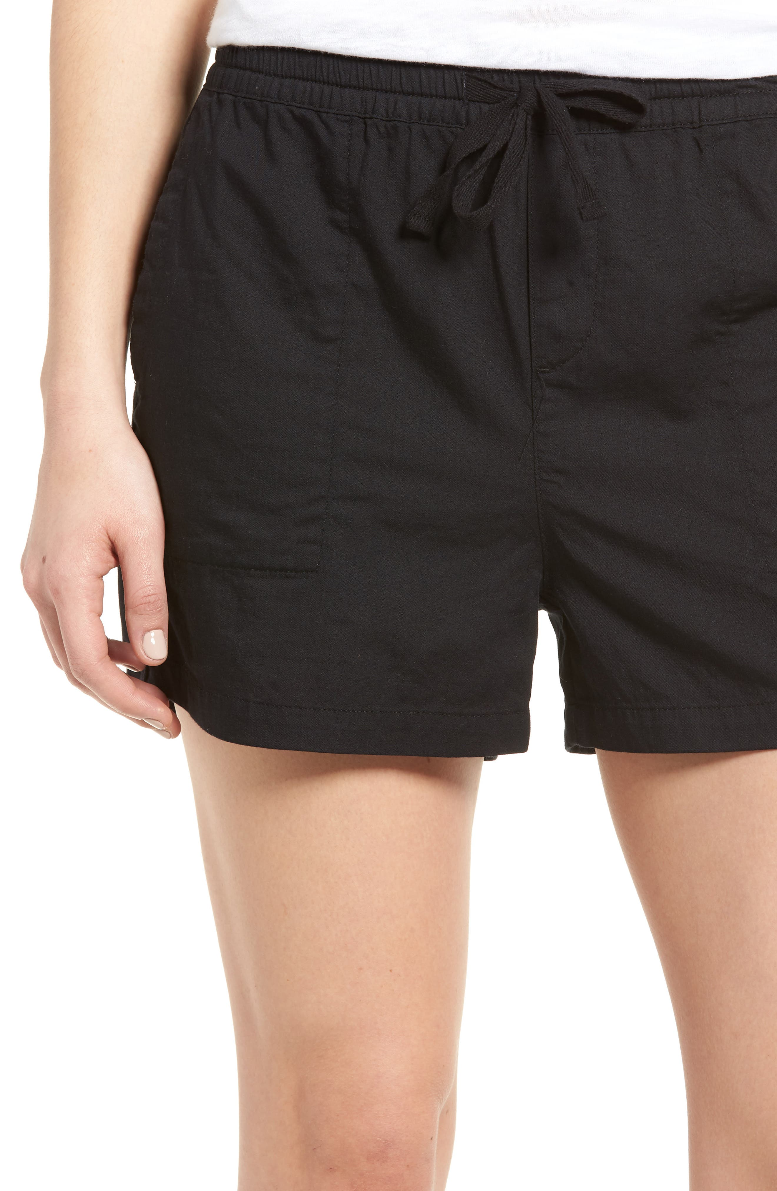 Pull-On Twill Shorts,                             Alternate thumbnail 4, color,                             001