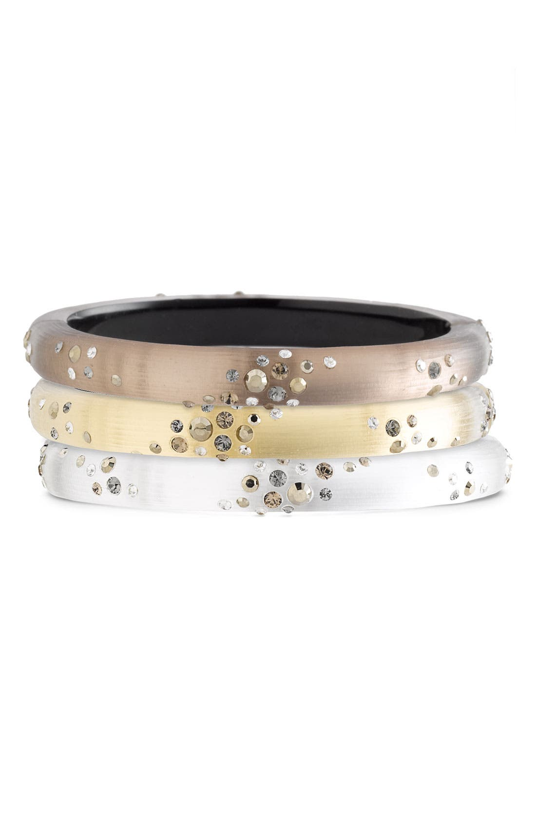 ALEXIS BITTAR,                             'Smoky Dust' Small Hinged Bracelet,                             Main thumbnail 1, color,                             040