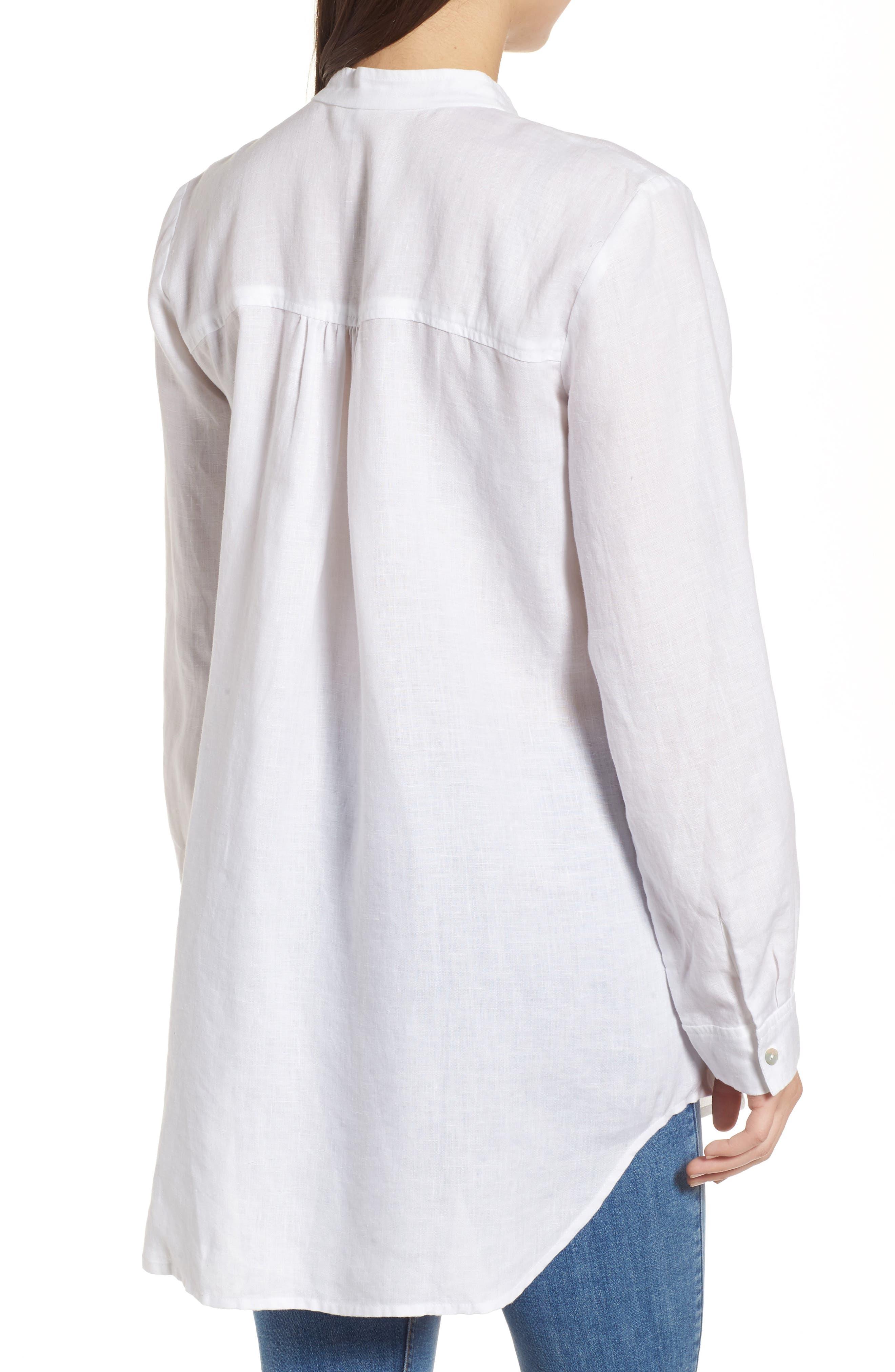 Organic Linen Tunic Shirt,                             Alternate thumbnail 2, color,                             100