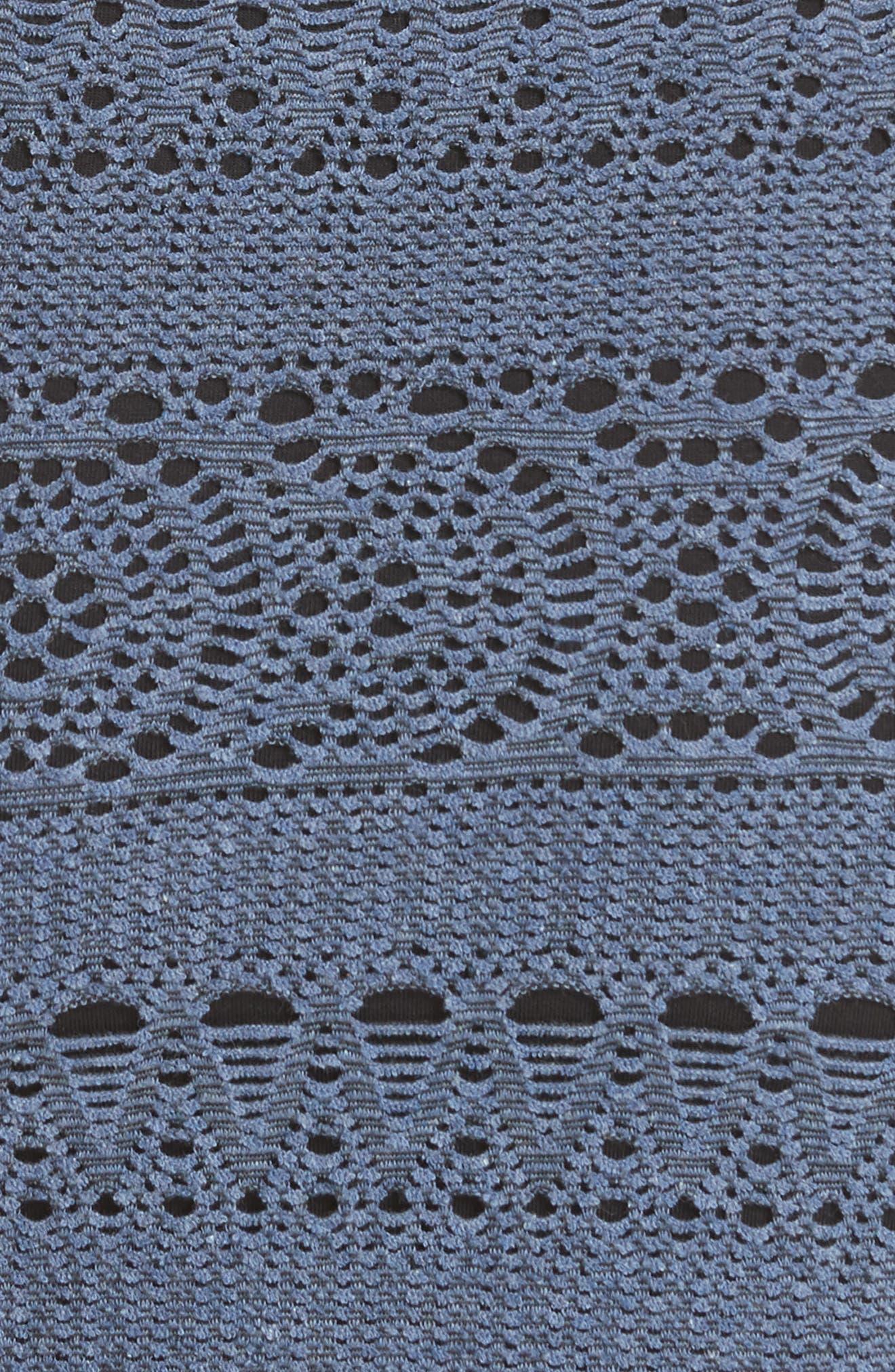 Oceanside Crochet Strapless Minidress,                             Alternate thumbnail 11, color,