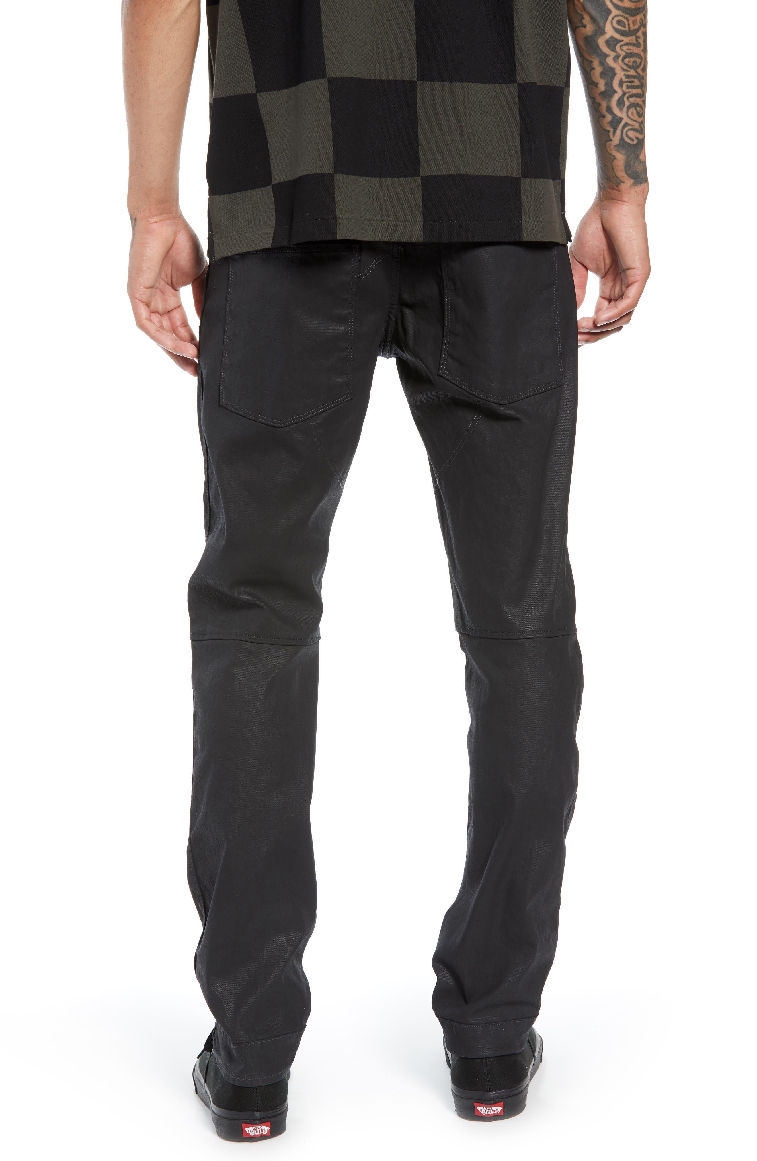 3D Coated Slim Jeans,                             Alternate thumbnail 2, color,                             3D DARK AGED