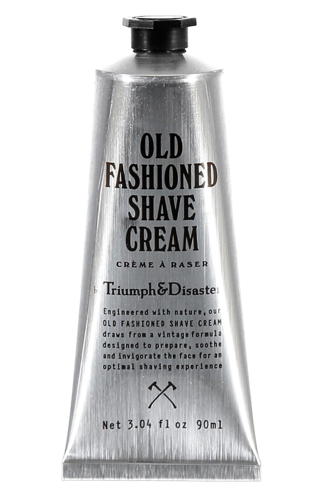 Old Fashioned Shave Cream Tube,                         Main,                         color, NO COLOR
